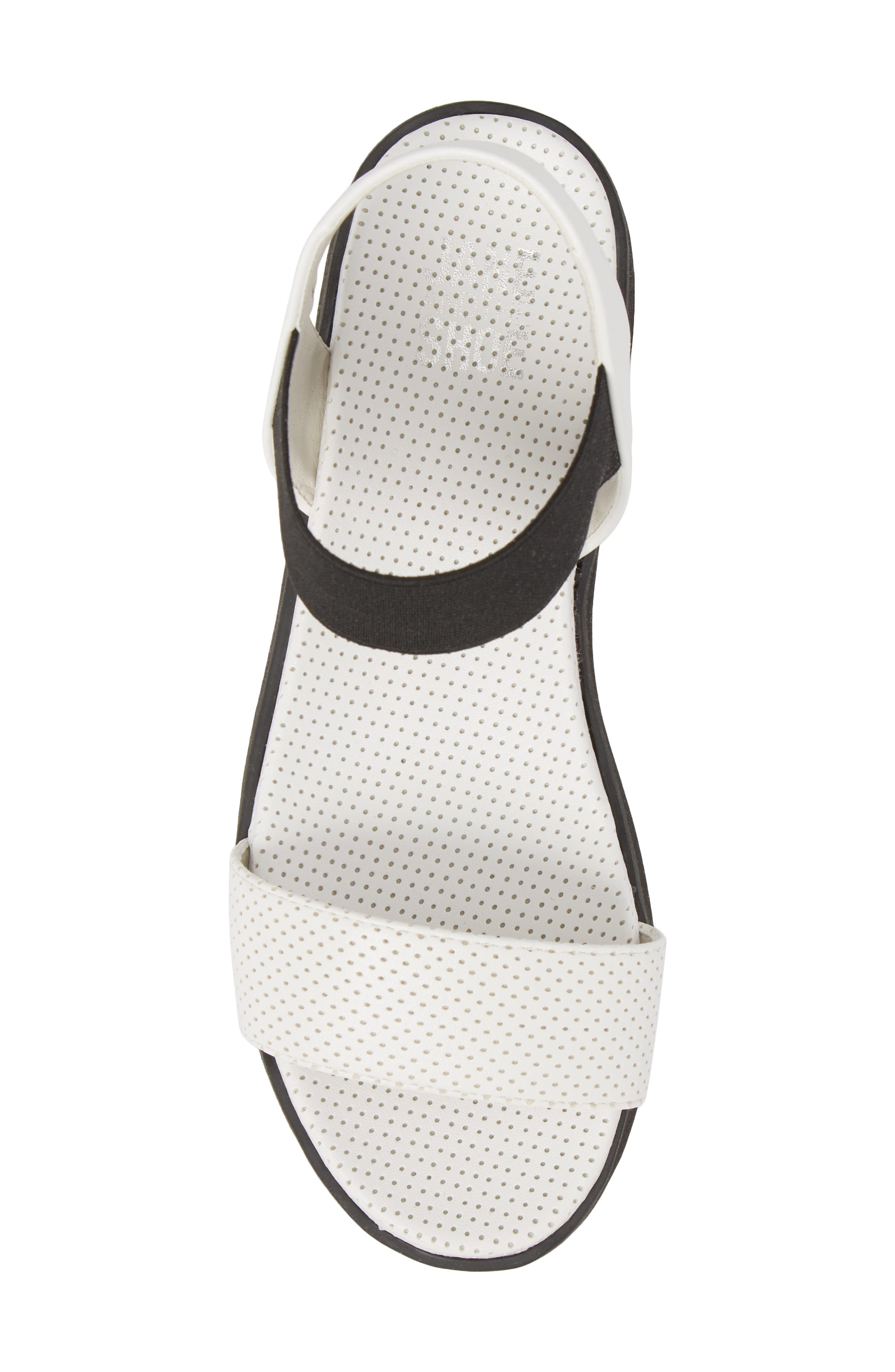 Josie Perforated Platform Sandal,                             Alternate thumbnail 4, color,                             White