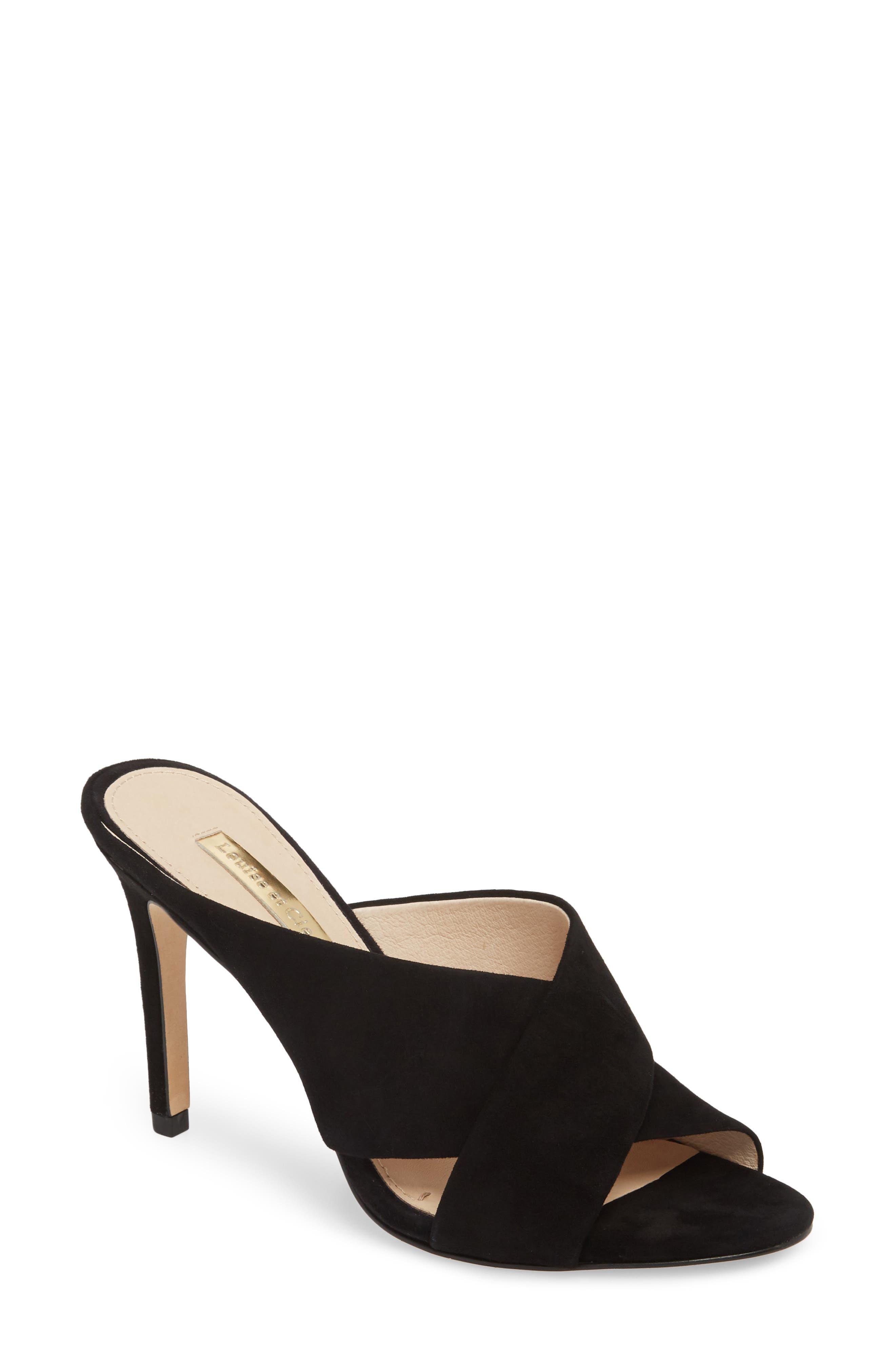 Halloway II Sandal,                         Main,                         color, Black Suede