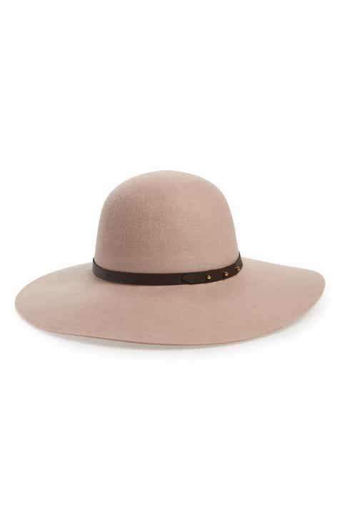 Halogen® Refined Wide Brim Wool Floppy Hat c1089a39dd
