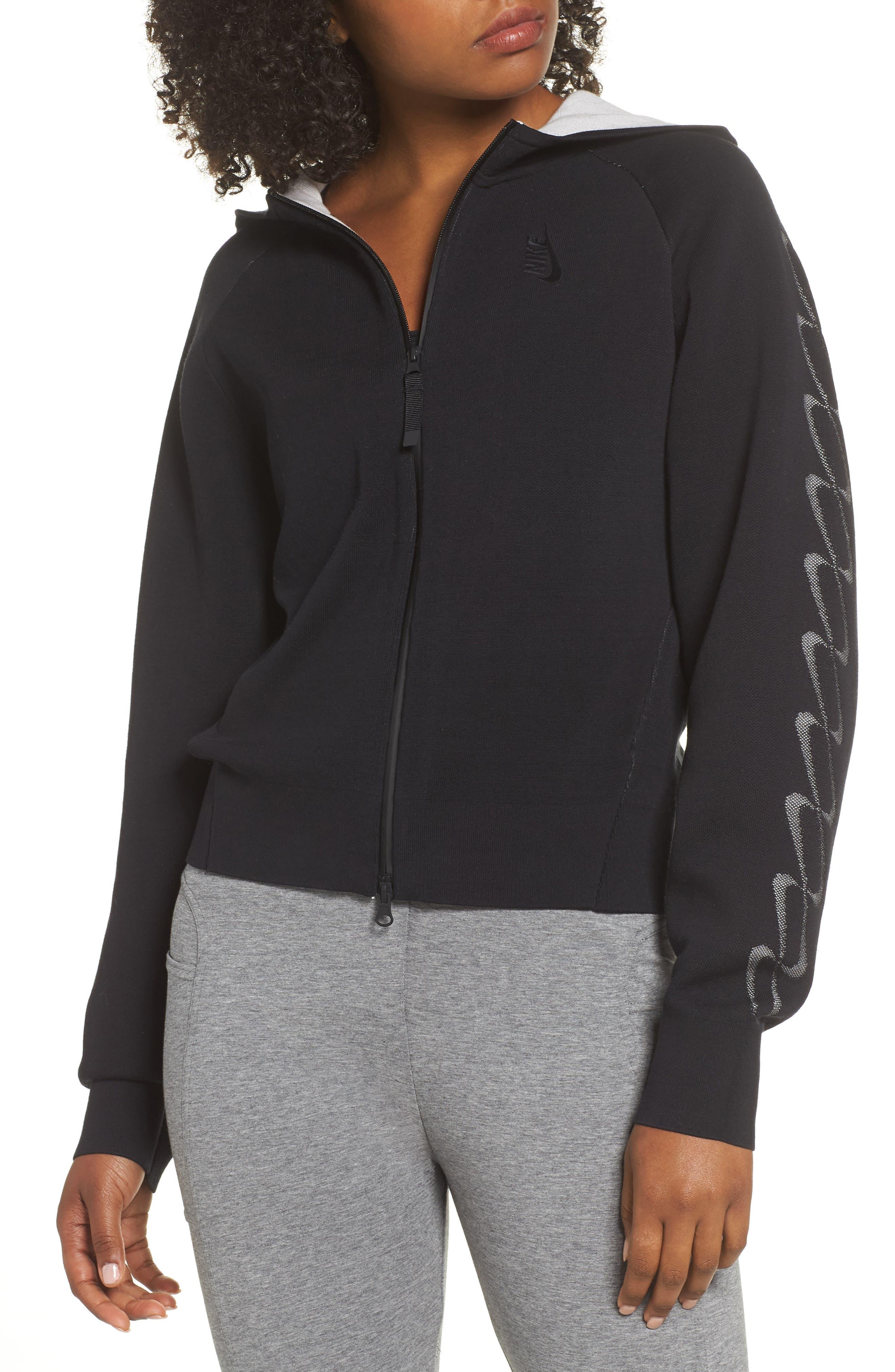 NRG Women's Knit Jacket,                             Main thumbnail 1, color,                             Black/ Vast Grey