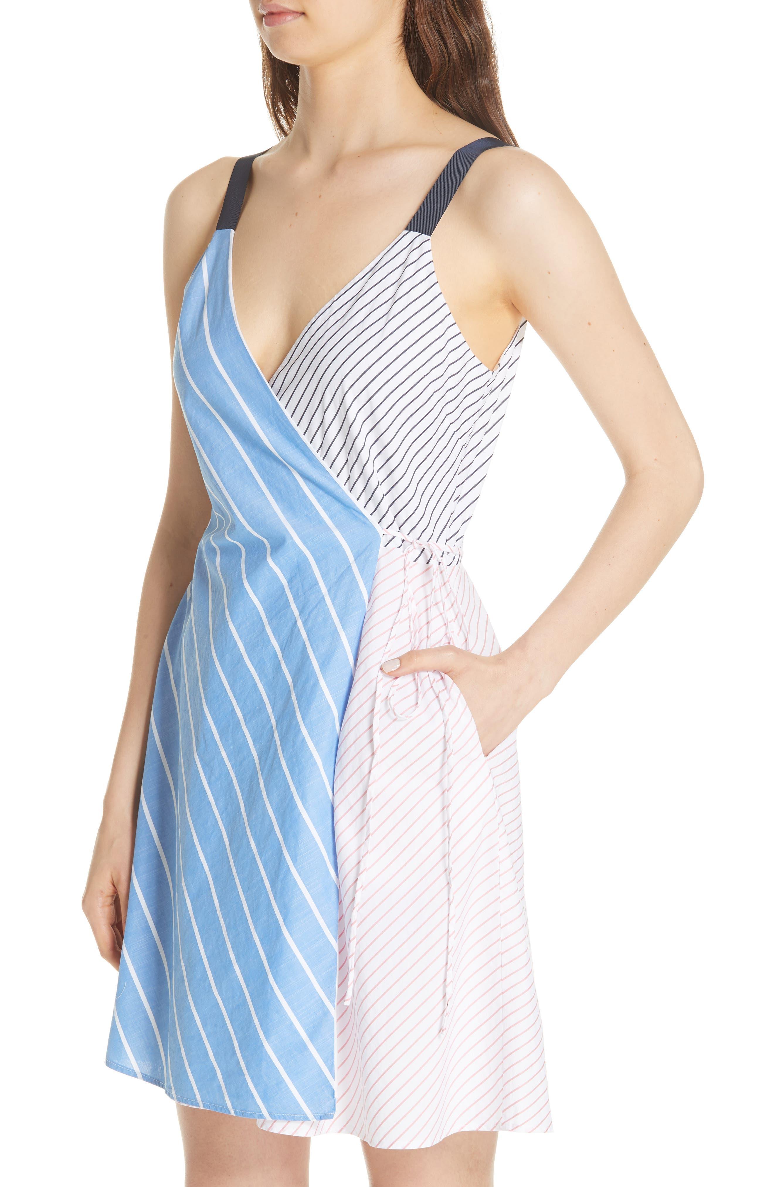 Editha Wrap Style Sundress,                             Alternate thumbnail 3, color,                             Multi