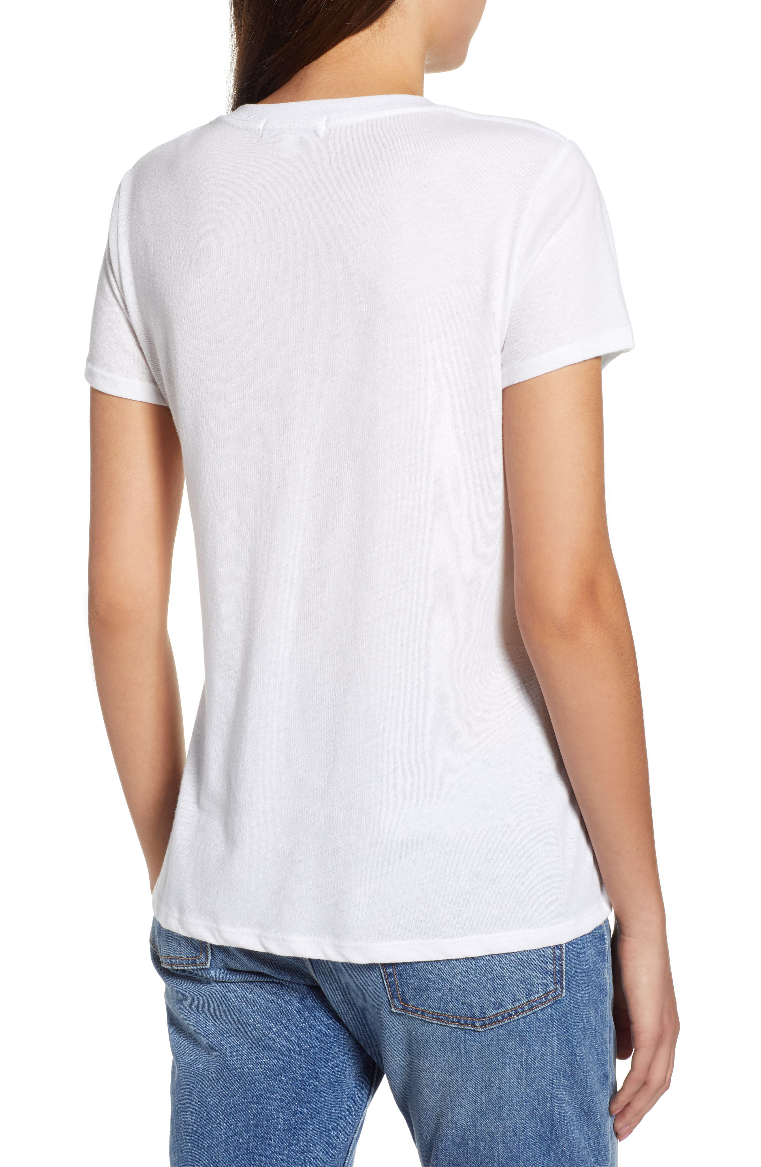 Stripes Slouched Tee,                             Alternate thumbnail 2, color,                             White