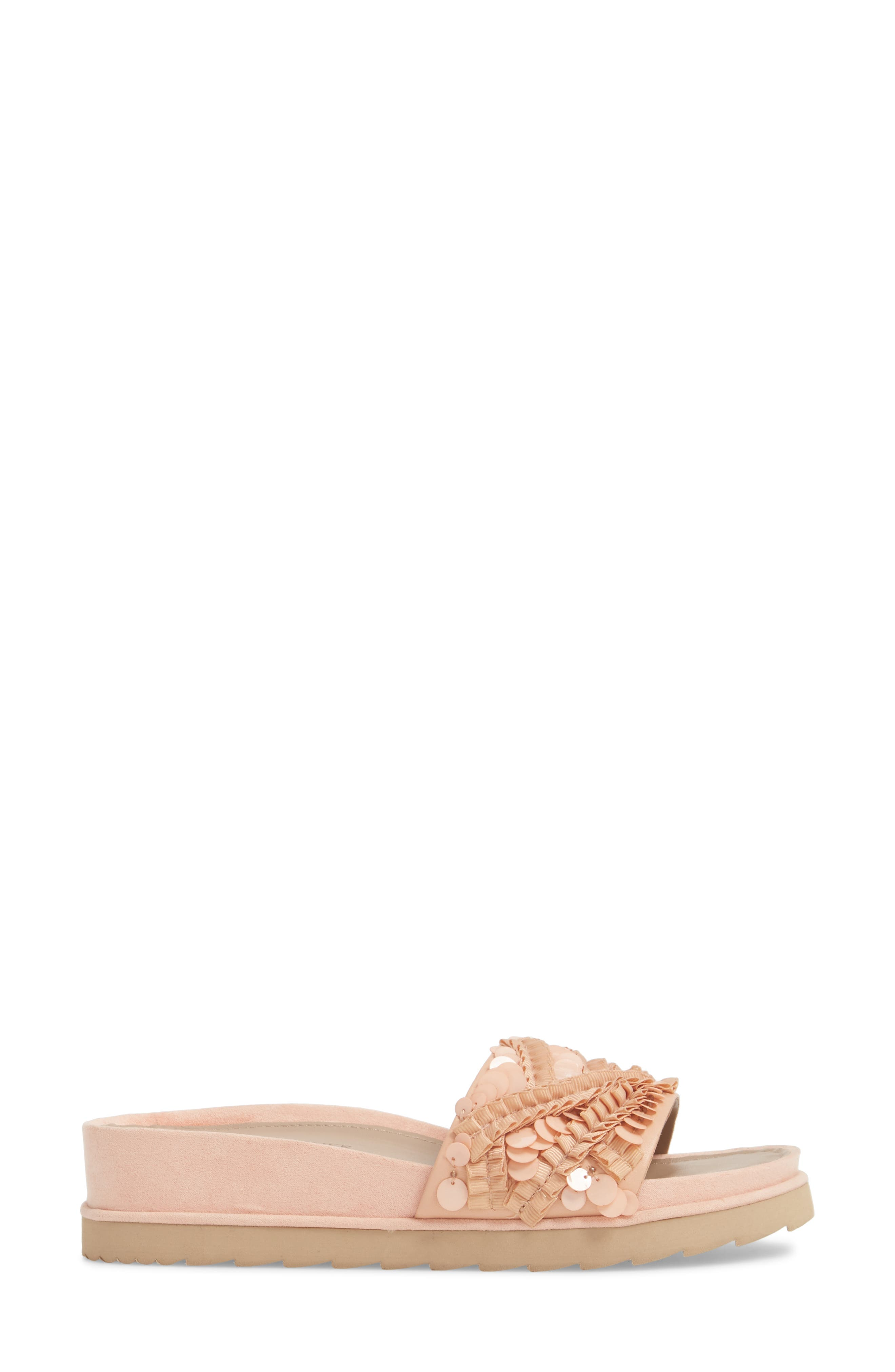 Cava Slide Sandal,                             Alternate thumbnail 5, color,                             Peony Leather