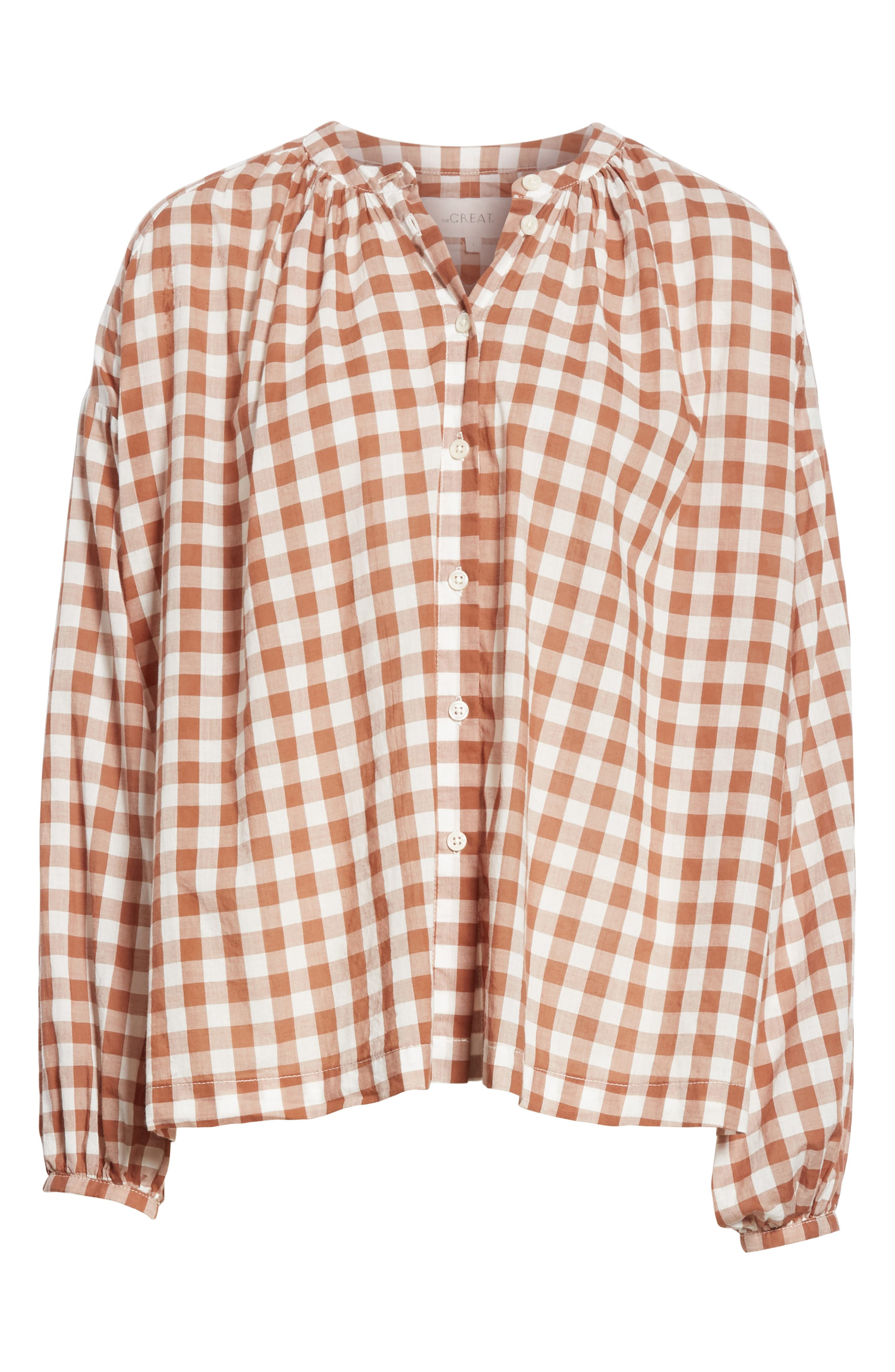 The Handsome Button-Up Shirt,                             Alternate thumbnail 6, color,                             Carob Check
