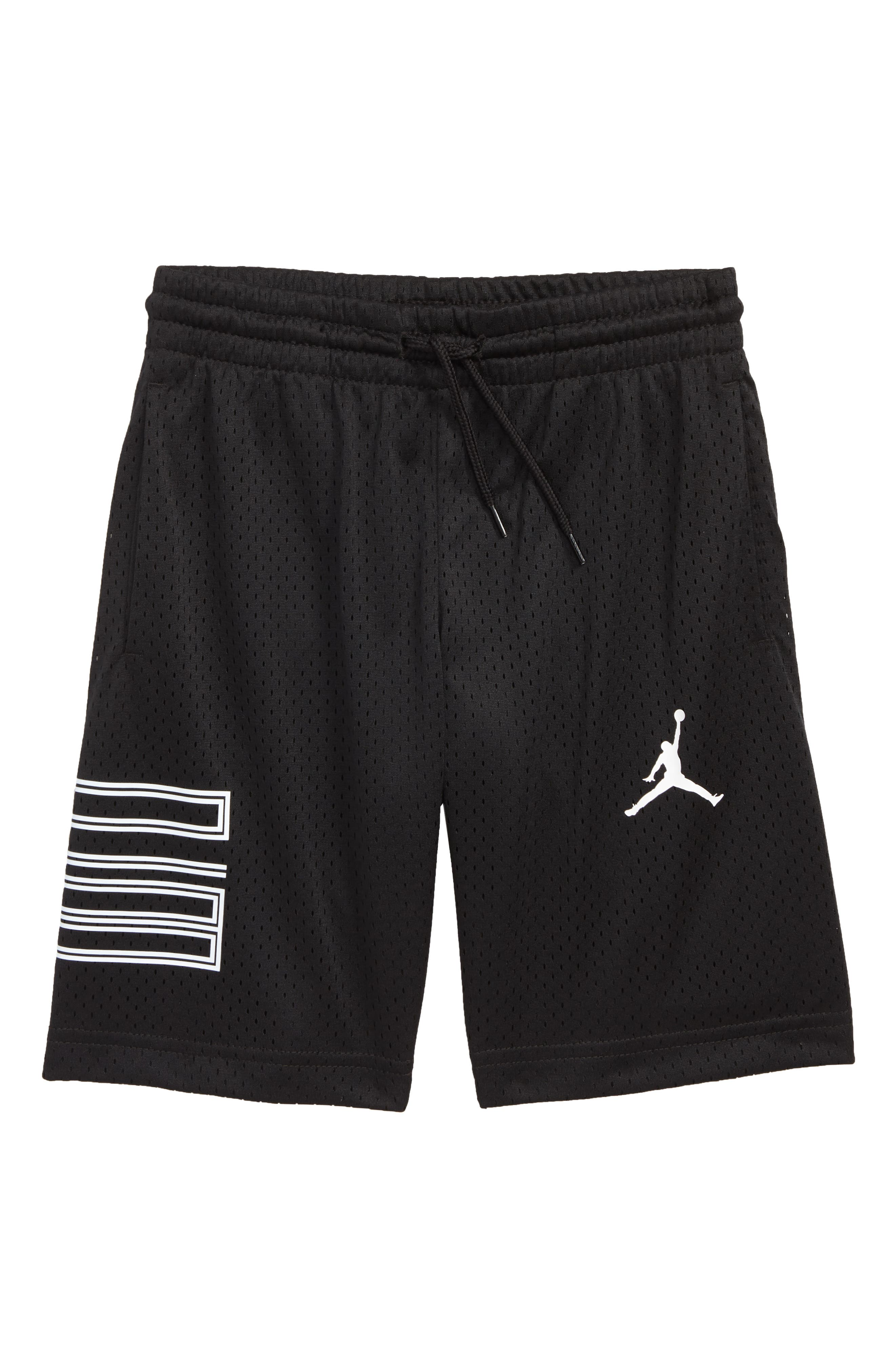 AJ11 Flight Mesh Shorts,                             Main thumbnail 1, color,                             Black