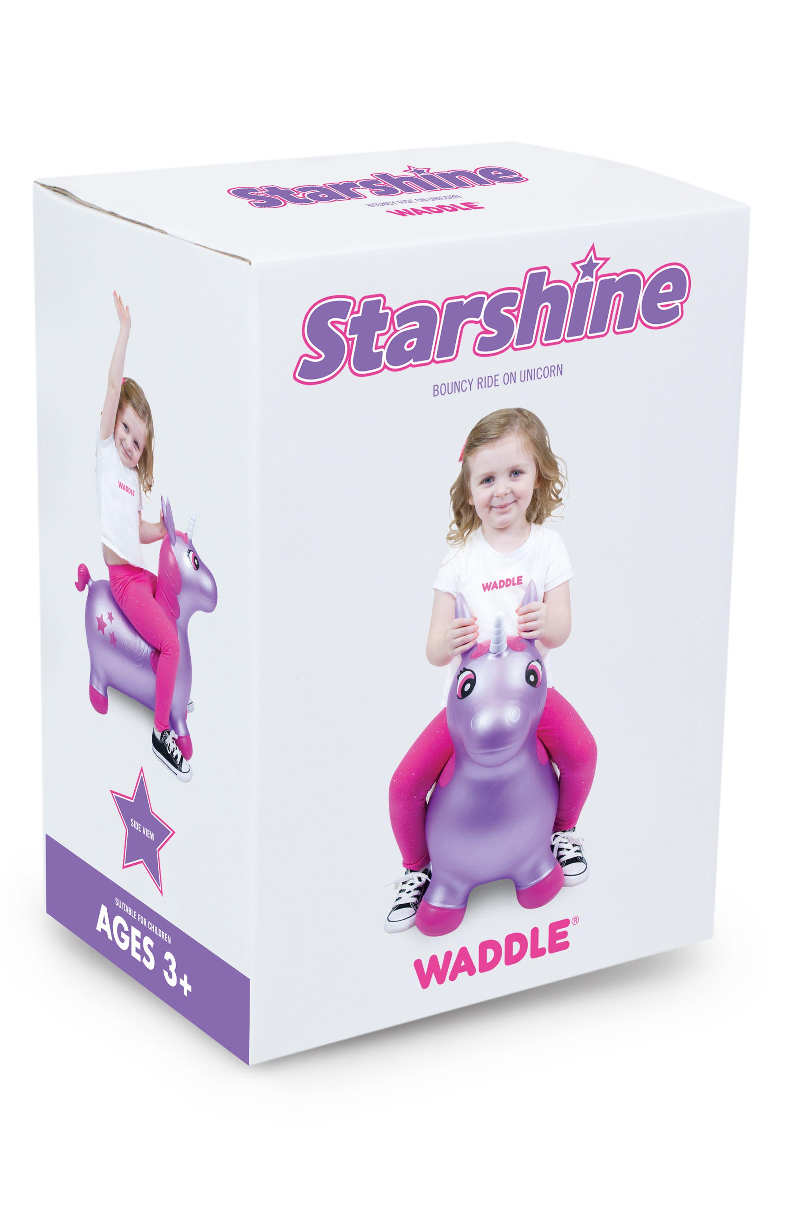 Unicorn Bouncy Ride-On Toy,                             Alternate thumbnail 2, color,                             Purple