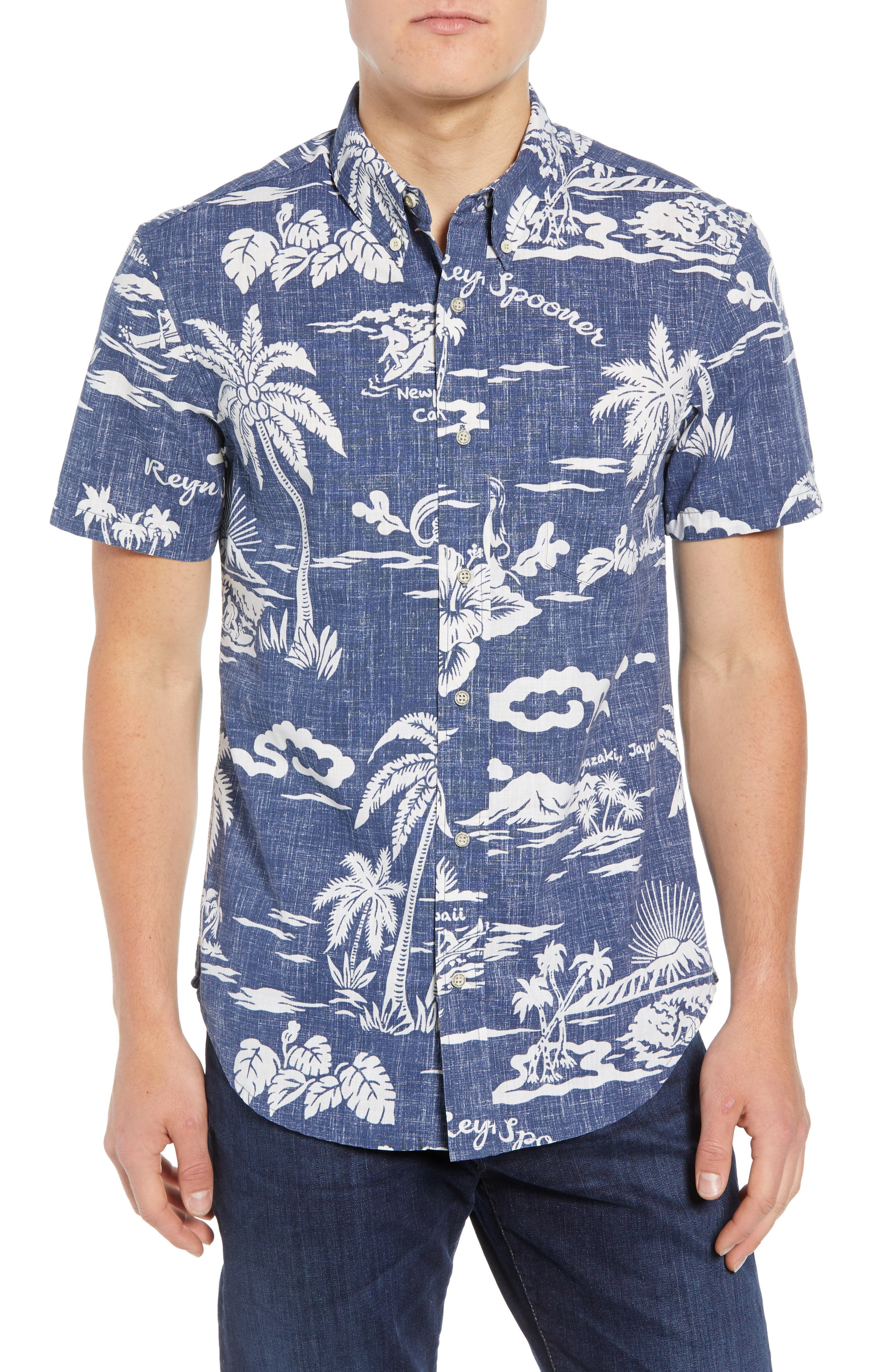 My Private Isle Regular Fit Sport Shirt,                         Main,                         color, Blue
