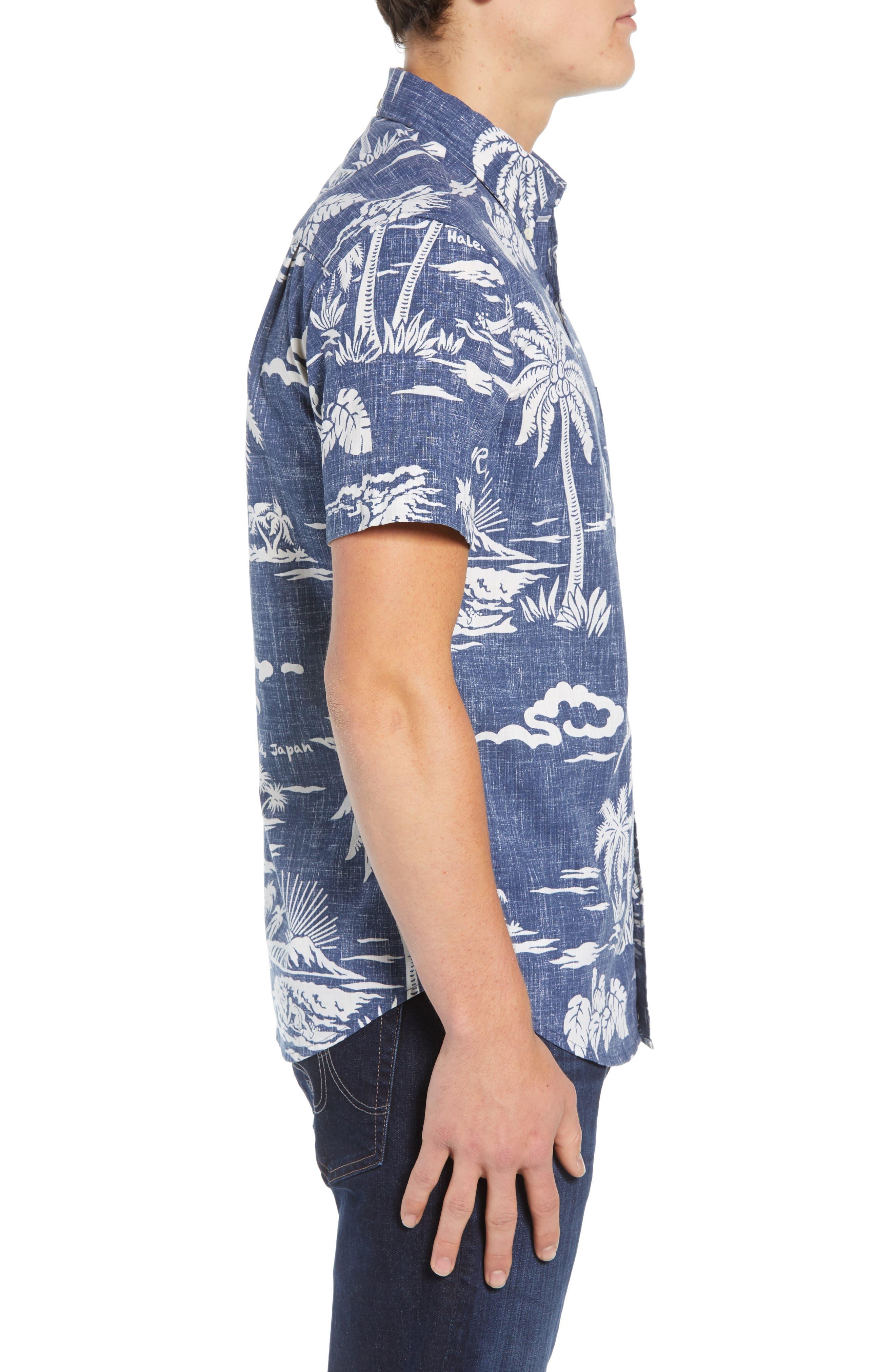 My Private Isle Regular Fit Sport Shirt,                             Alternate thumbnail 4, color,                             Blue