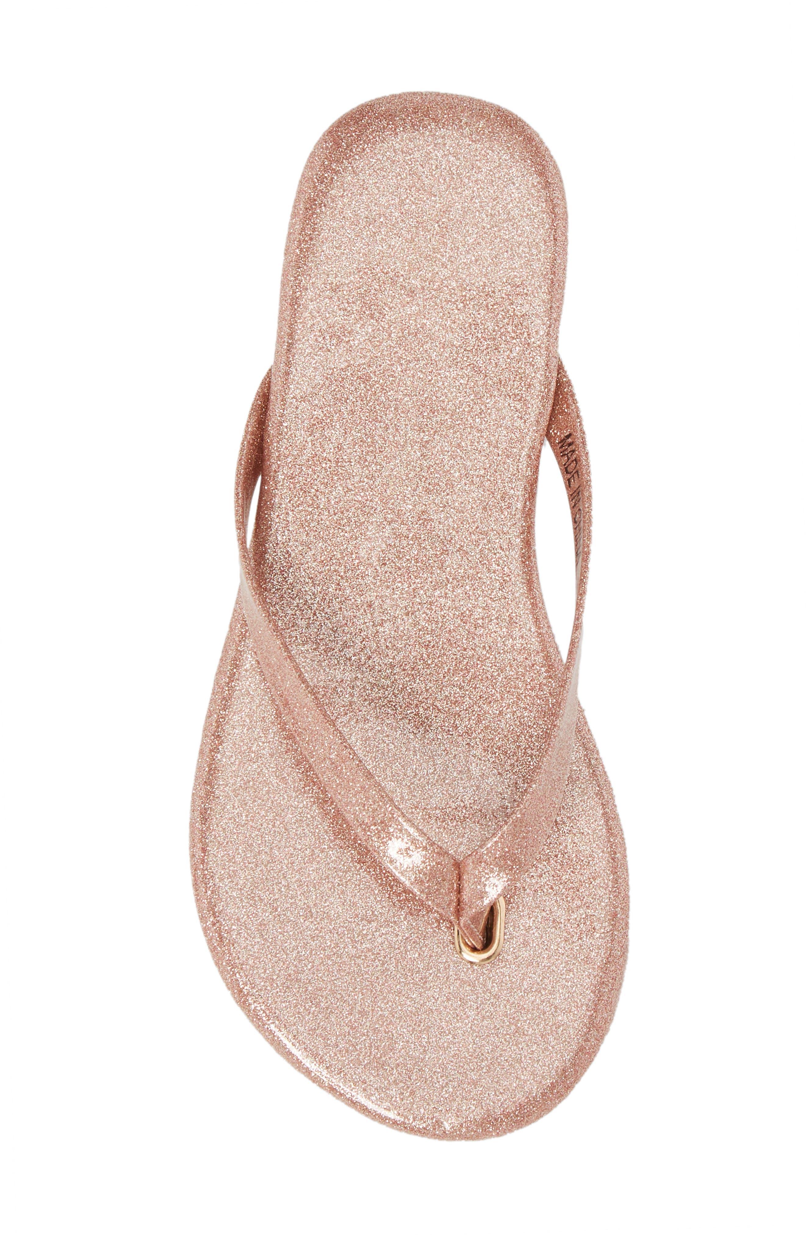 Rivington Flip Flop,                             Alternate thumbnail 4, color,                             Light Pink Patent Glitter