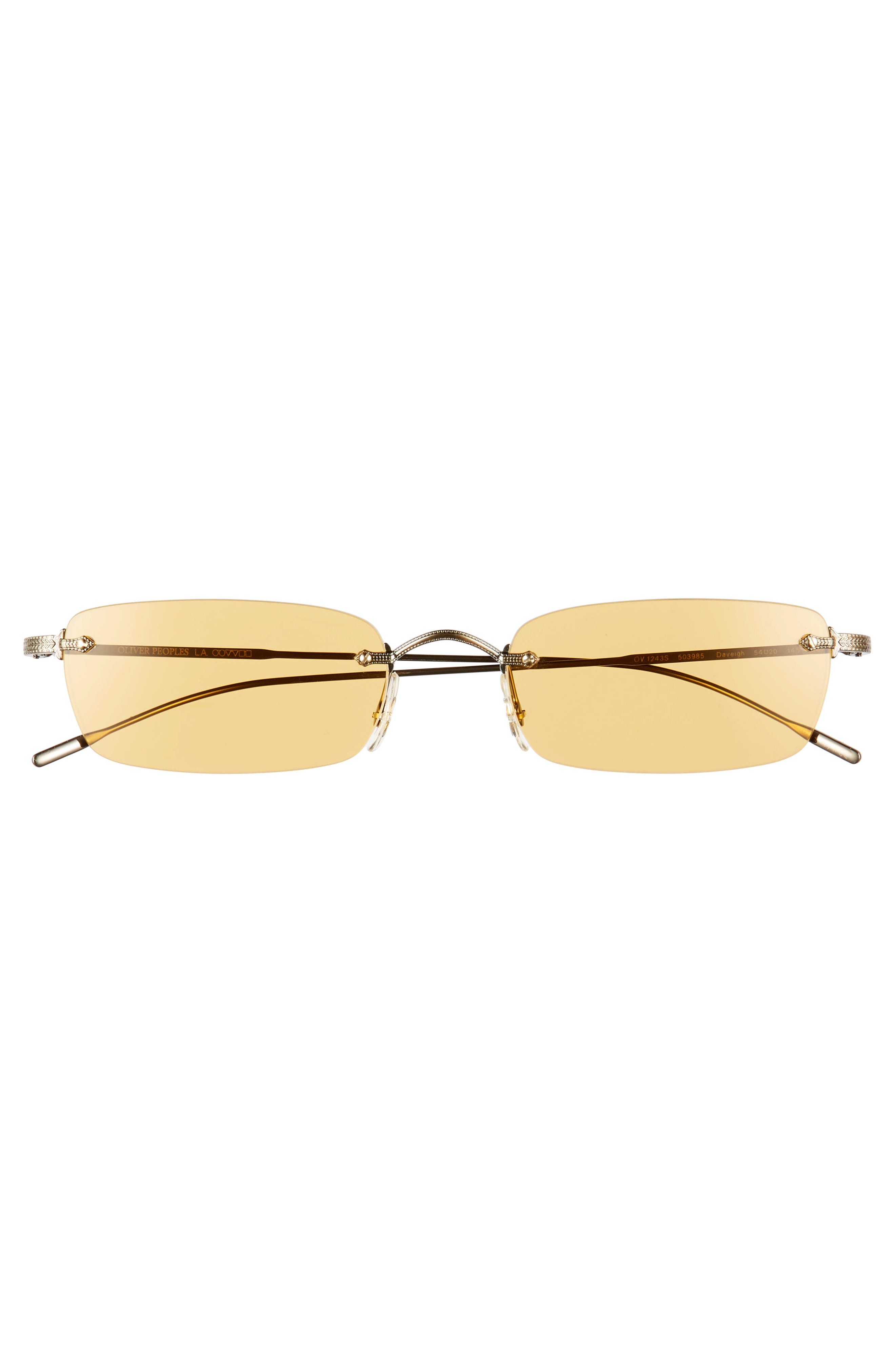 Daveigh 54mm Sunglasses,                             Alternate thumbnail 3, color,                             Mustard
