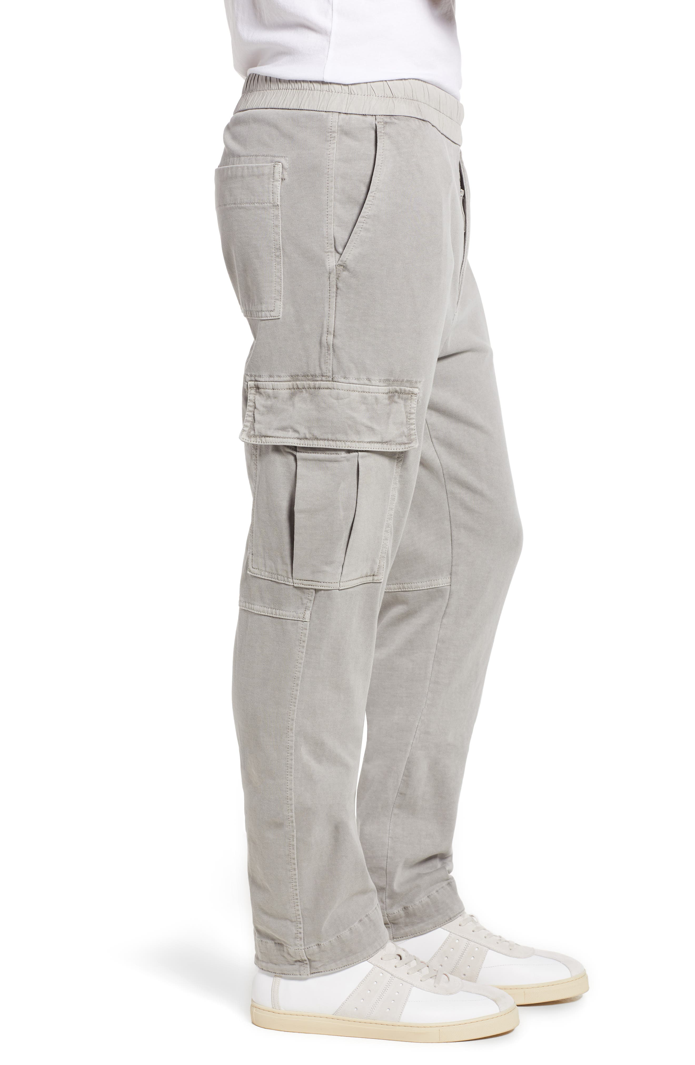 Cotton Jersey Relaxed Fit Cargo Pants,                             Alternate thumbnail 5, color,                             Paver Pigment