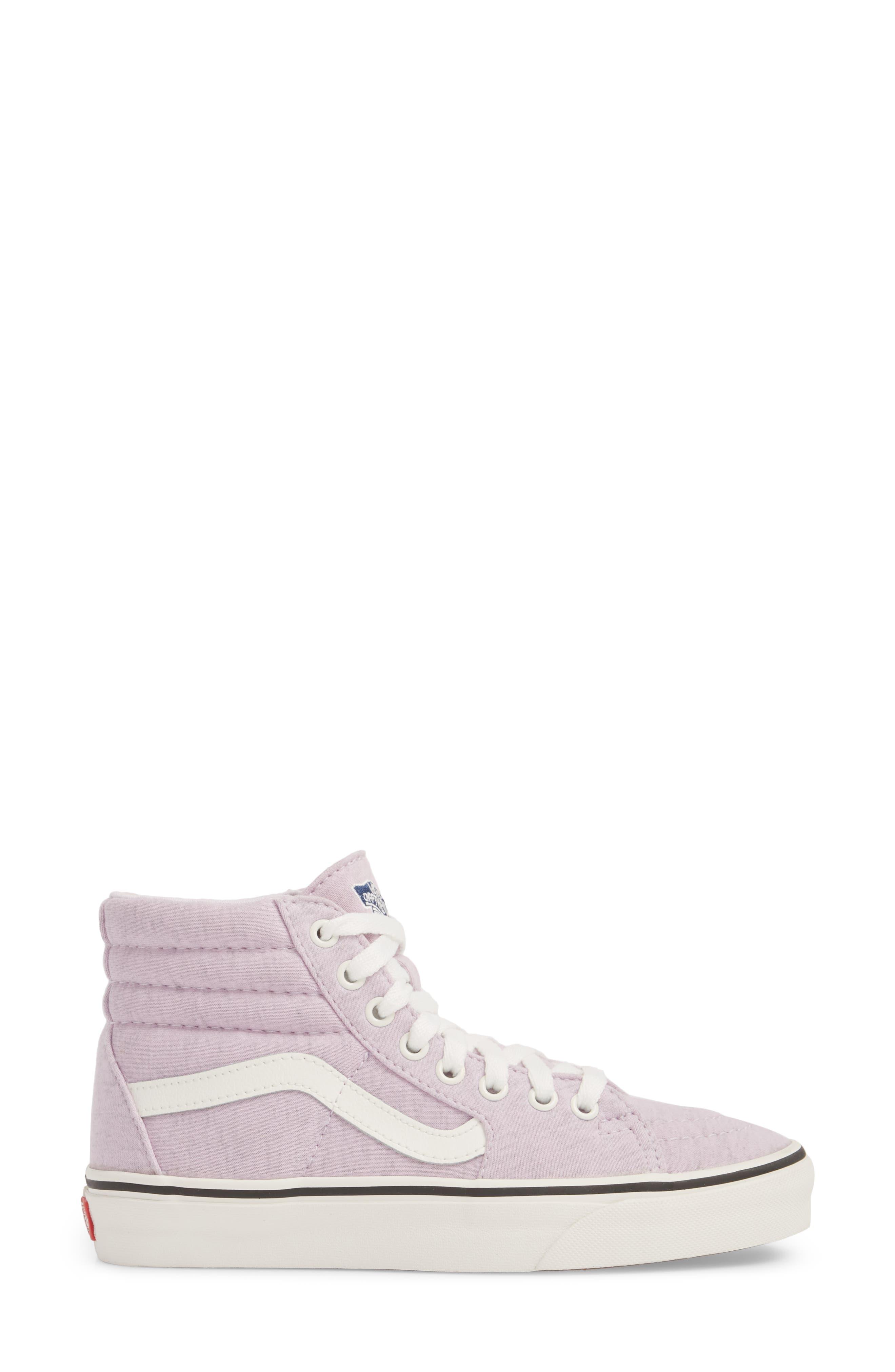 'Sk8-Hi' Sneaker,                             Alternate thumbnail 4, color,                             Lavender Fog/ Snow White