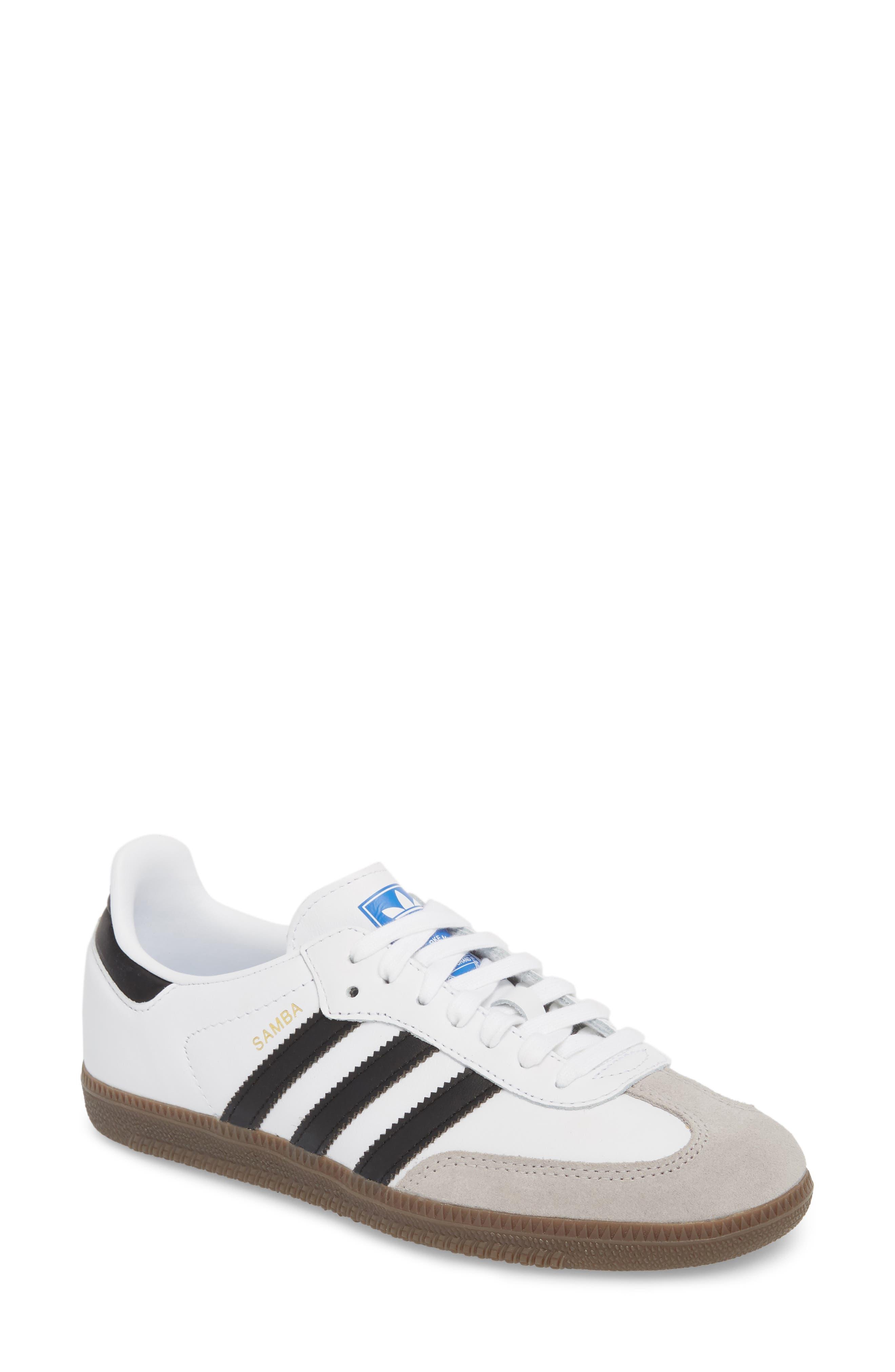 'Samba' Sneaker,                             Main thumbnail 1, color,                             White/ Black/ Clear Granite