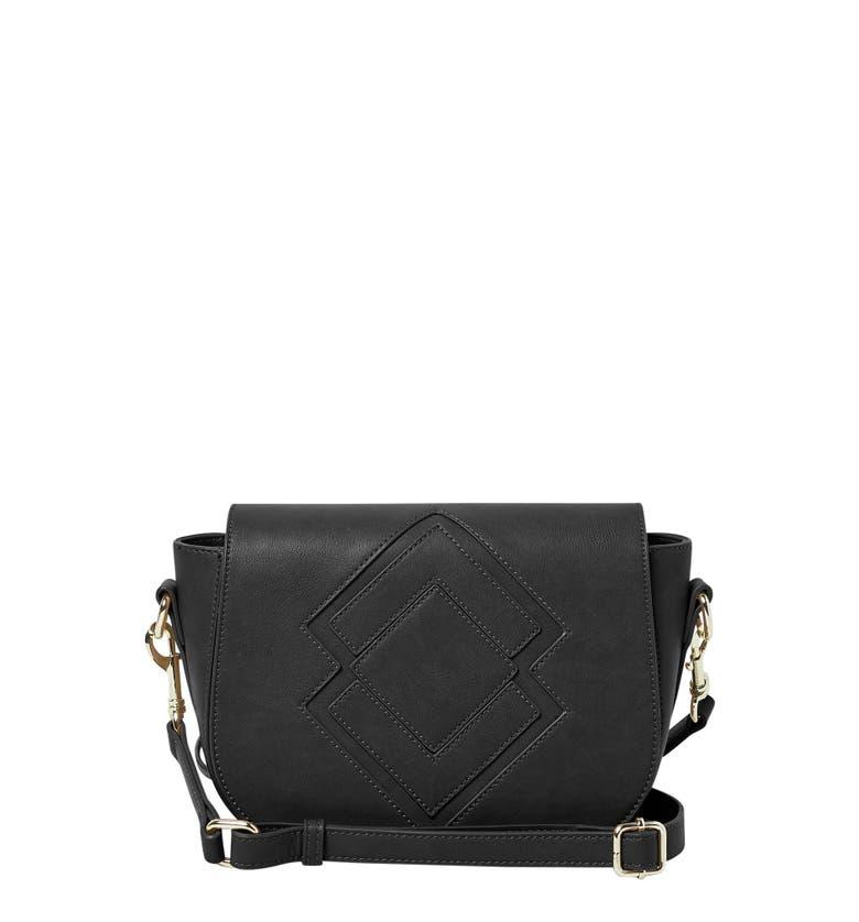 Urban Originals Ventura Vegan Leather Crossbody Bag Black