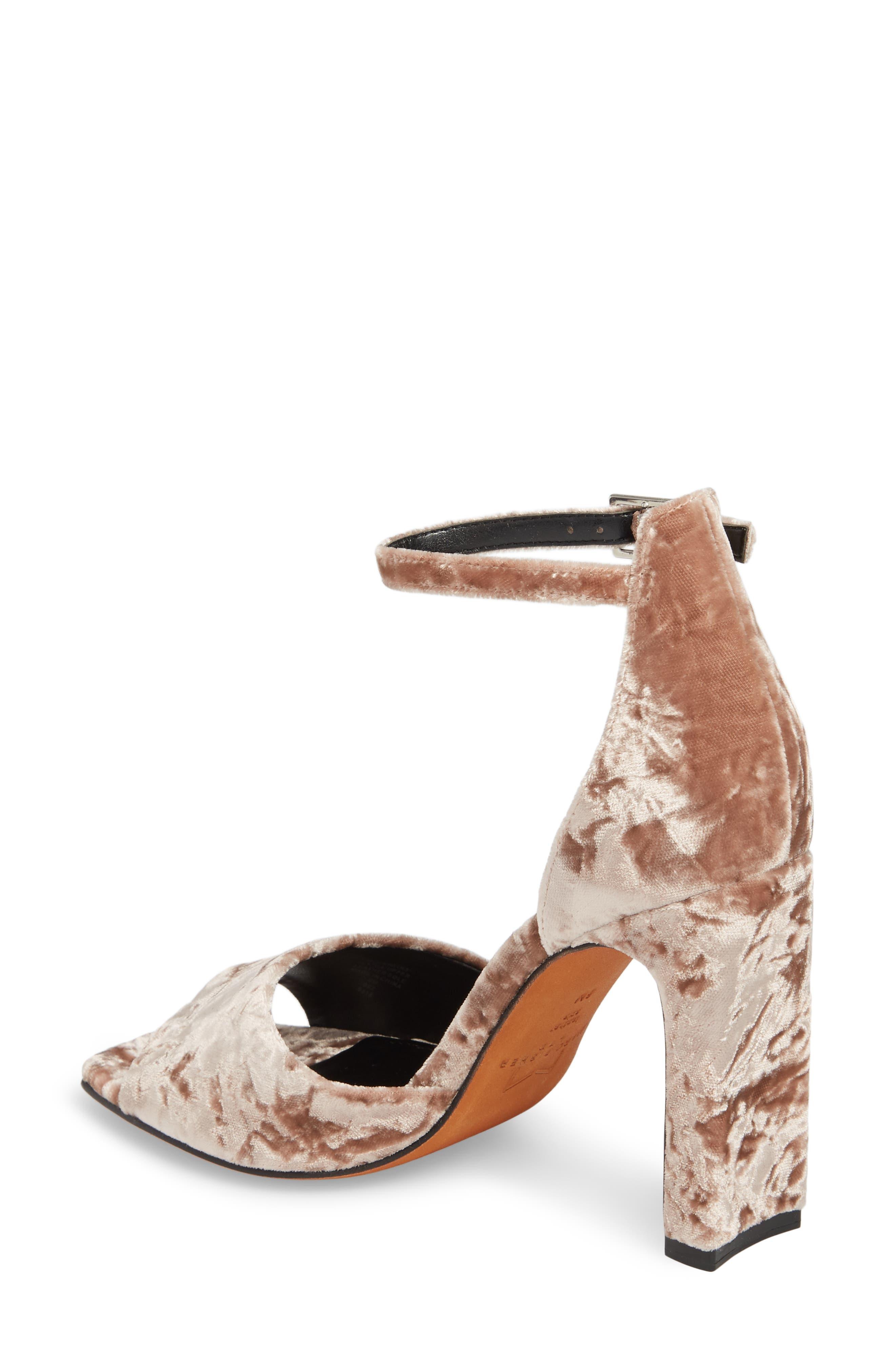 Harlin Ankle Strap Sandal,                             Alternate thumbnail 2, color,                             Light Pink Fabric