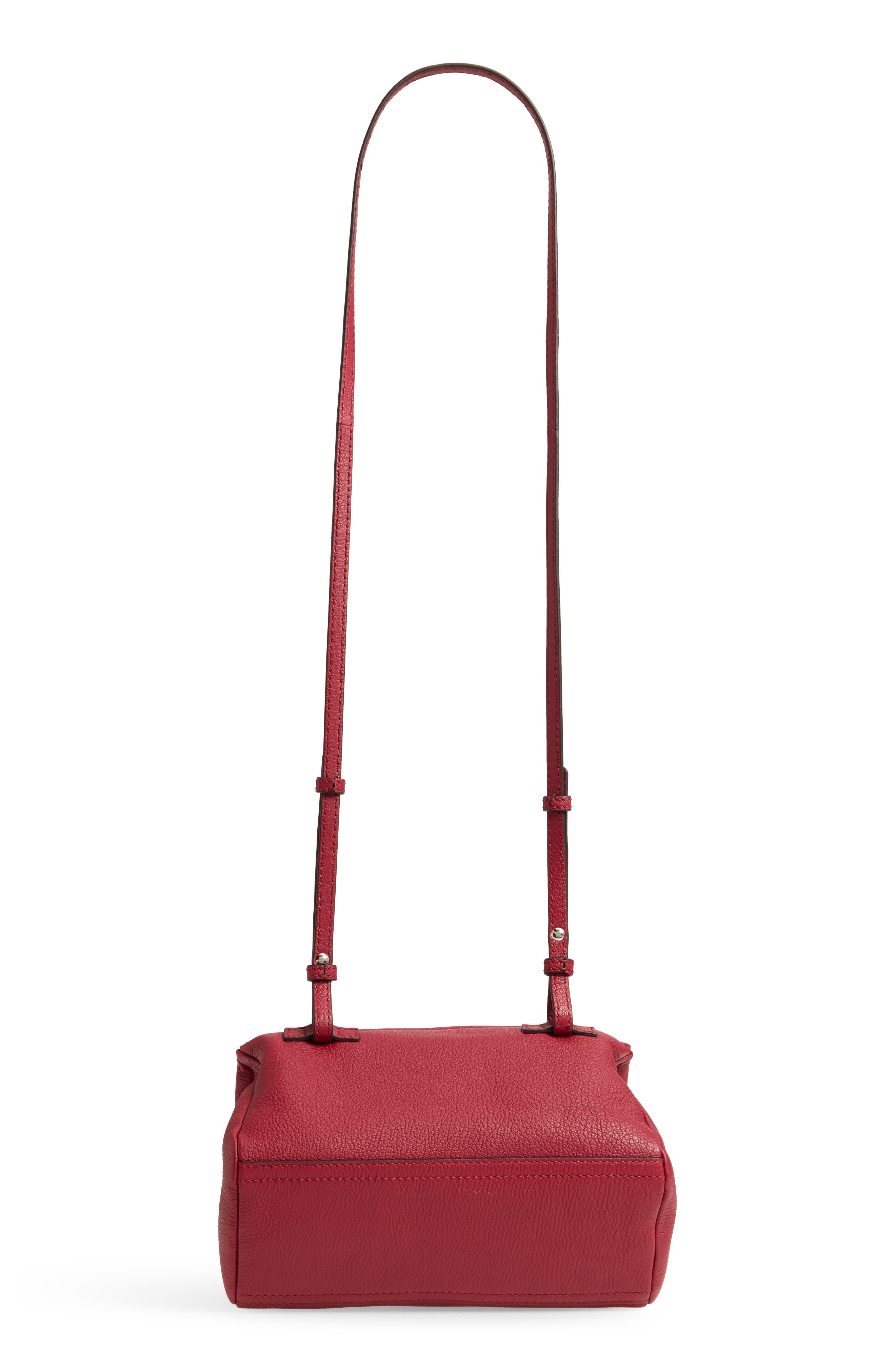 'Mini Pandora' Sugar Leather Shoulder Bag,                             Alternate thumbnail 5, color,                             Fig Pink