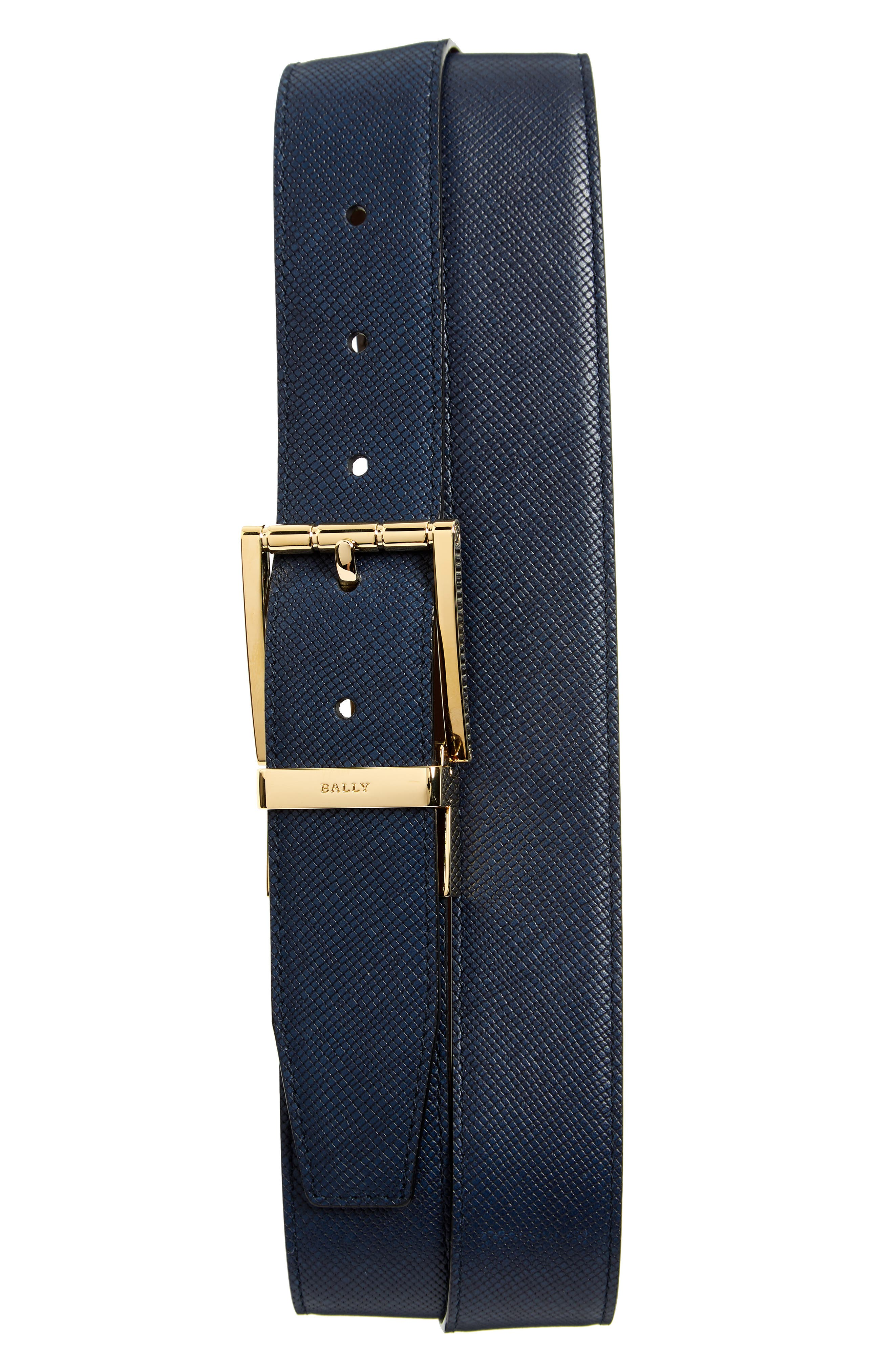 Astor Reversible Leather Belt,                             Main thumbnail 1, color,                             Ink