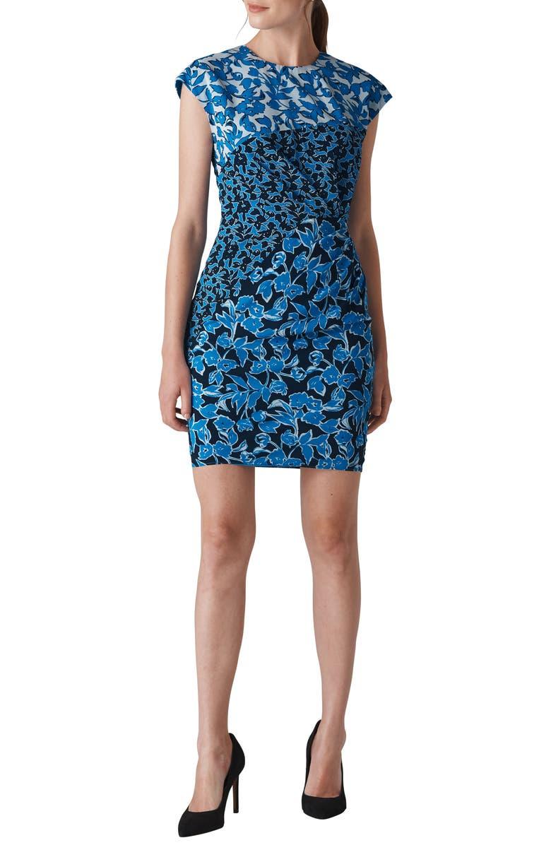 Jocelyn Cordilla Print Stretch Silk Body-Con Dress