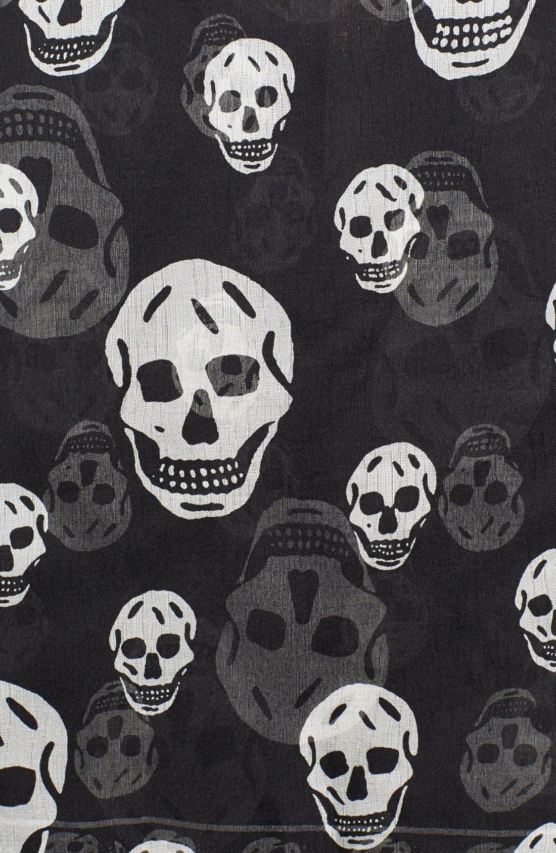 Alternate Image 3  - Alexander McQueen Skull Print Silk Chiffon Scarf