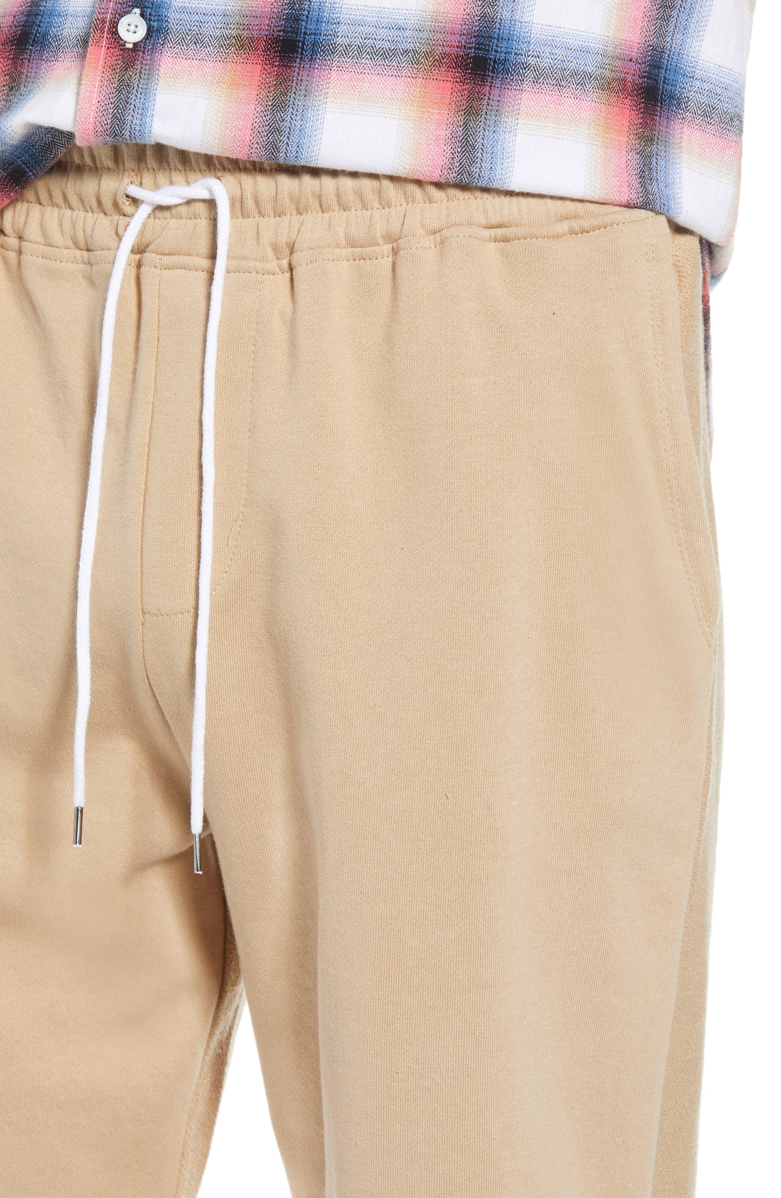 Terry Drawstring Shorts,                             Alternate thumbnail 3, color,                             Tan Safari