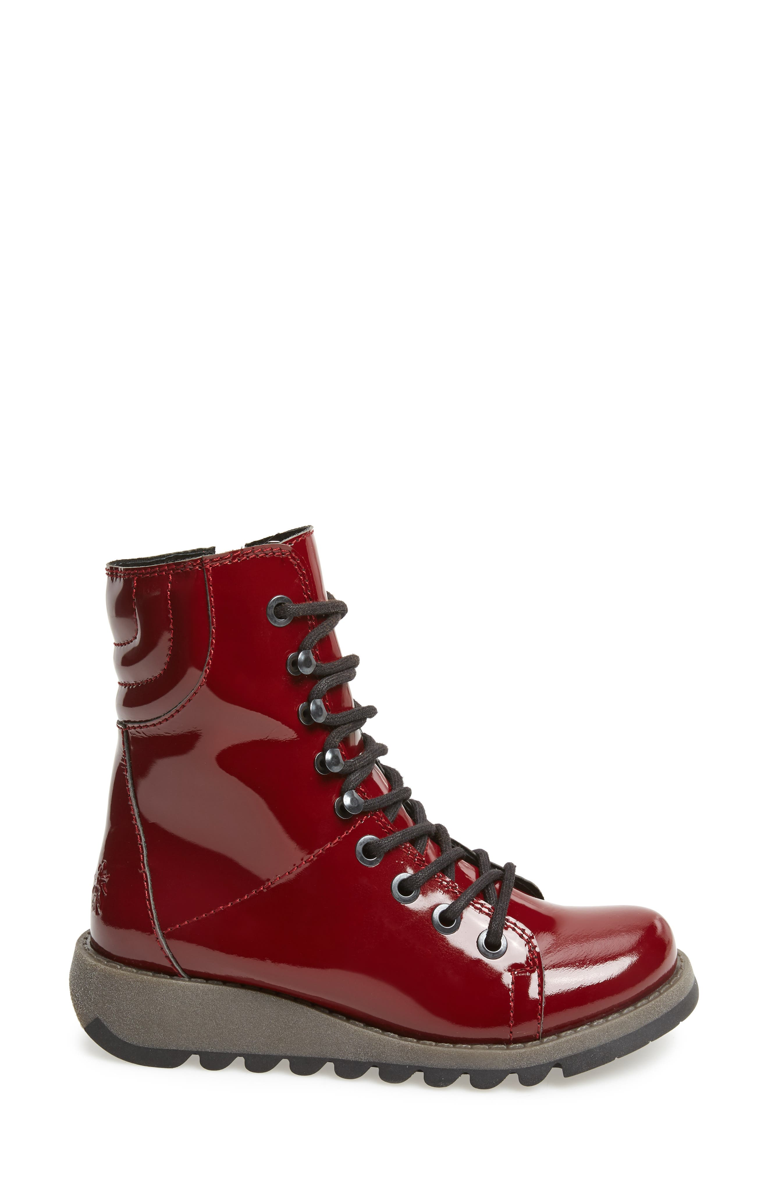 Same Lace-Up Boot,                             Alternate thumbnail 5, color,                             Burgundy