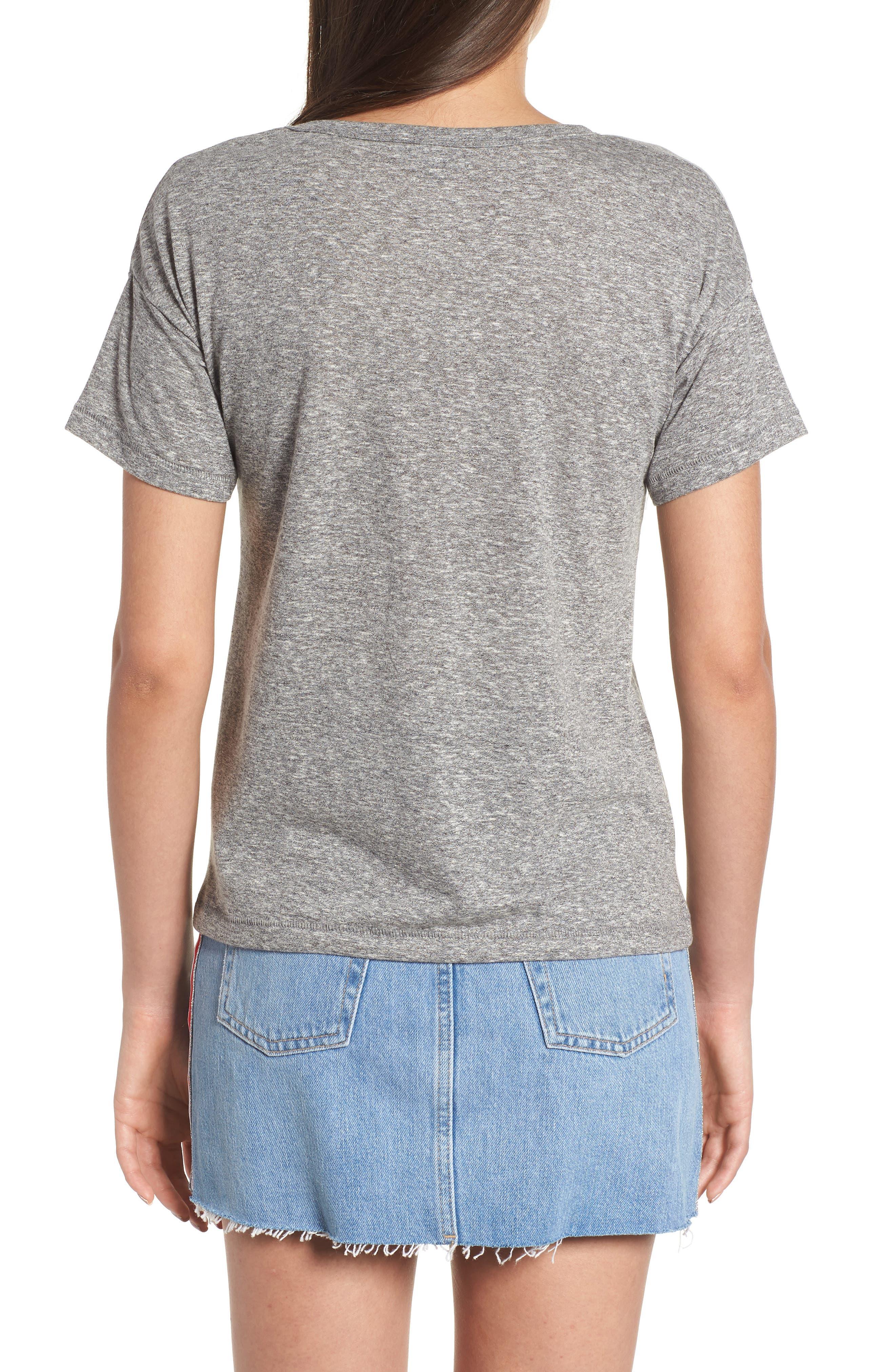Short Sleeve Marl T-Shirt,                             Alternate thumbnail 2, color,                             Grey Marl