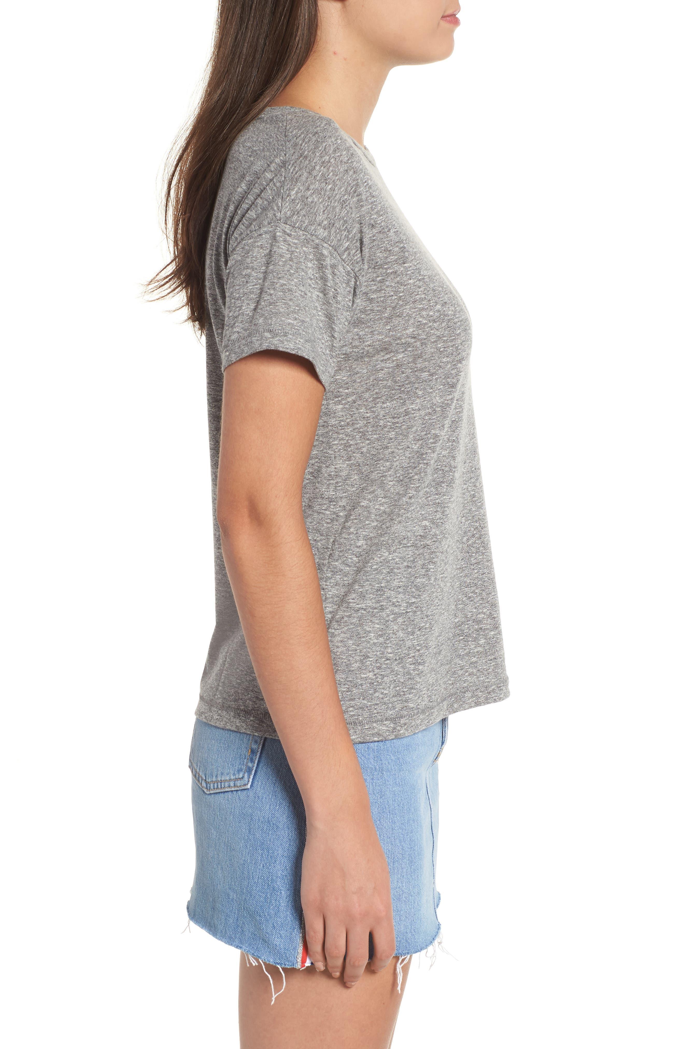 Short Sleeve Marl T-Shirt,                             Alternate thumbnail 3, color,                             Grey Marl