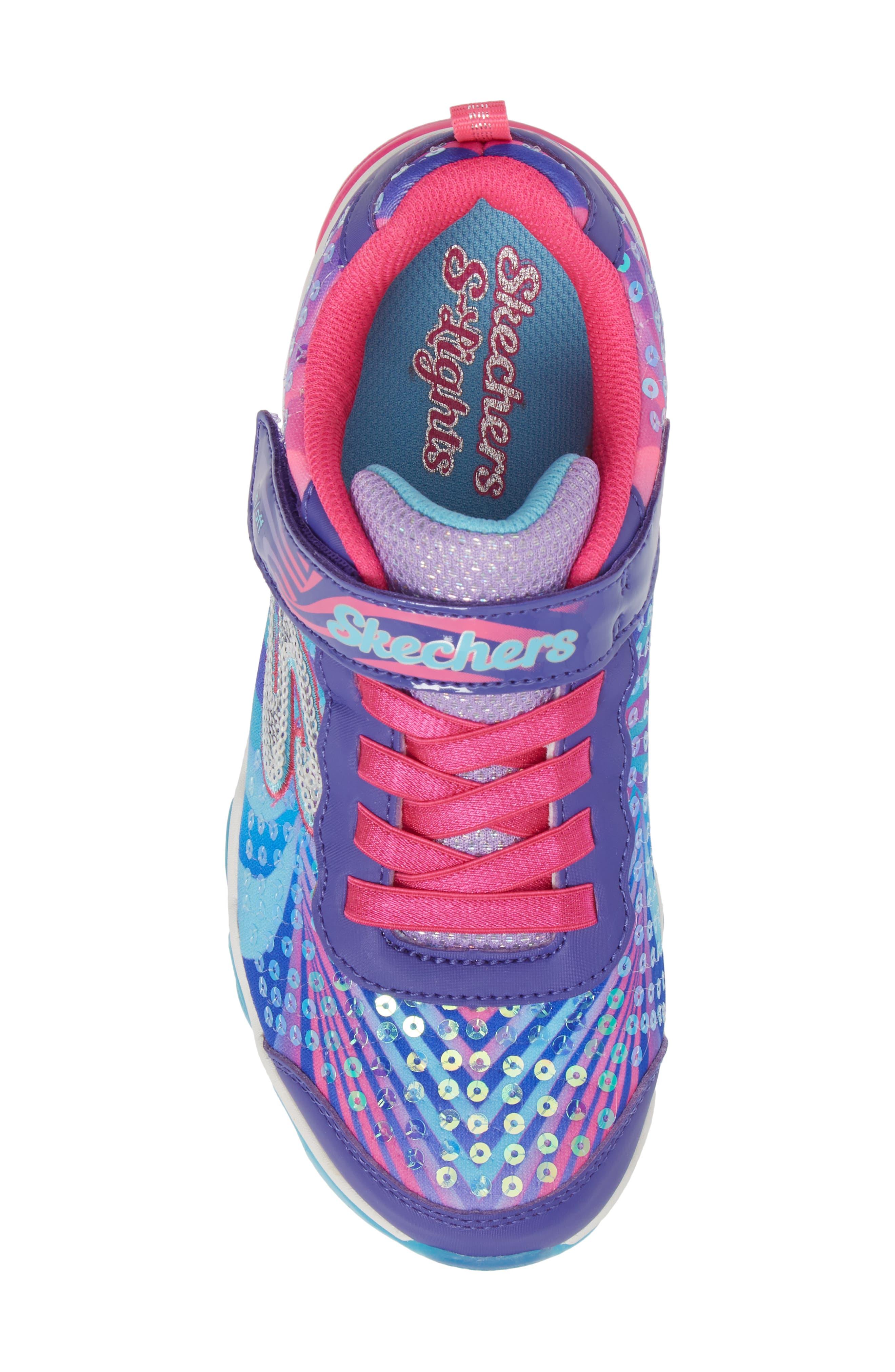 Jelly Beams Light-Up Sneaker,                             Alternate thumbnail 5, color,                             Purple/ Multi