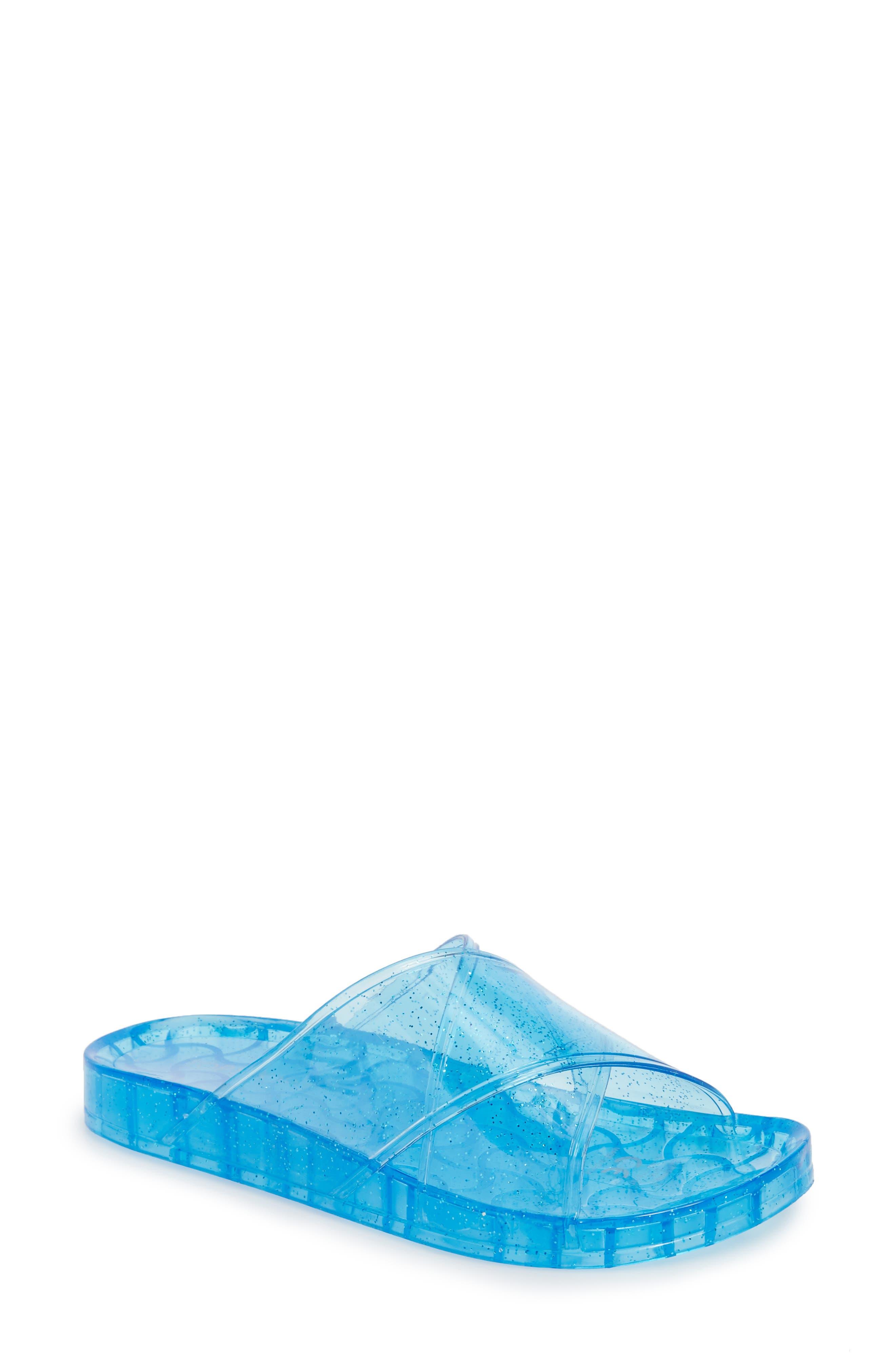 Roxy Jelly Slide Sandal,                             Main thumbnail 1, color,                             Blue