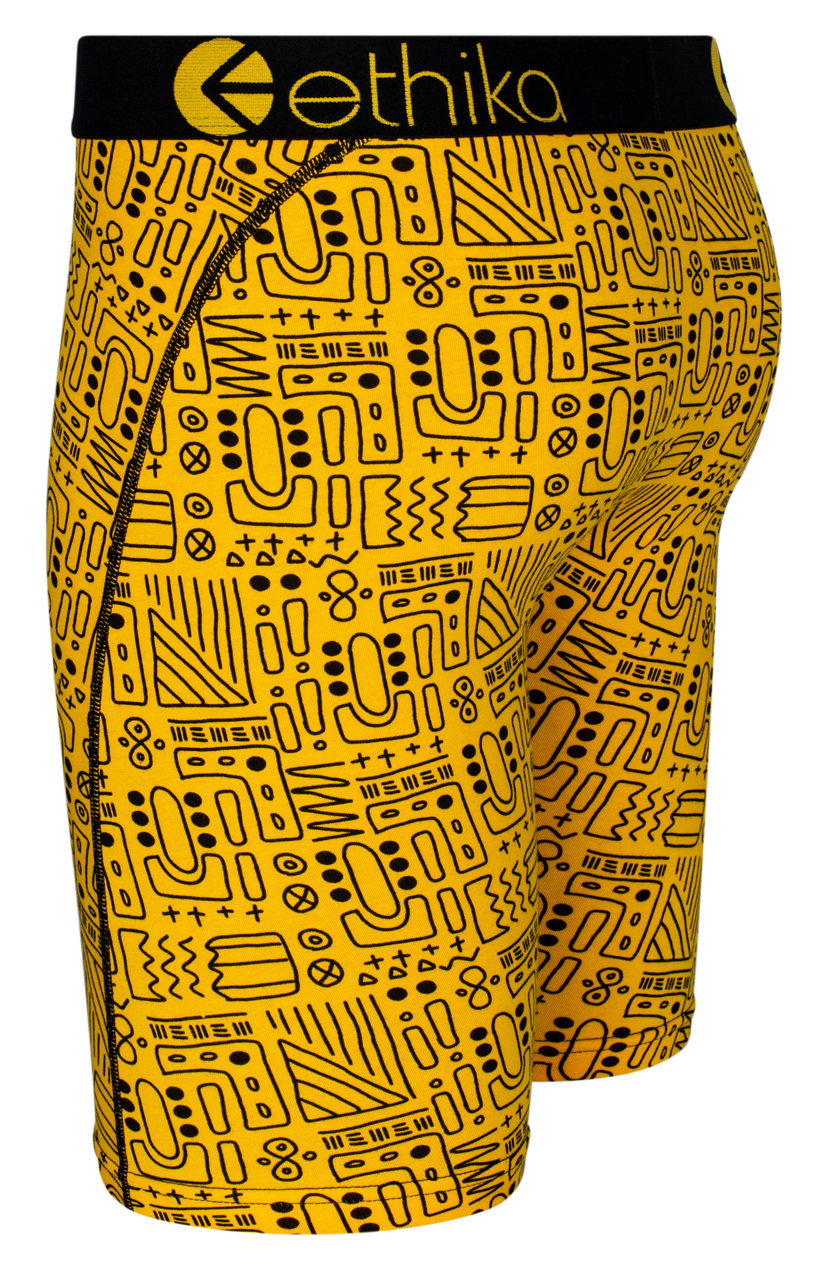 Print Stretch Boxer Briefs,                             Alternate thumbnail 3, color,                             Yellow