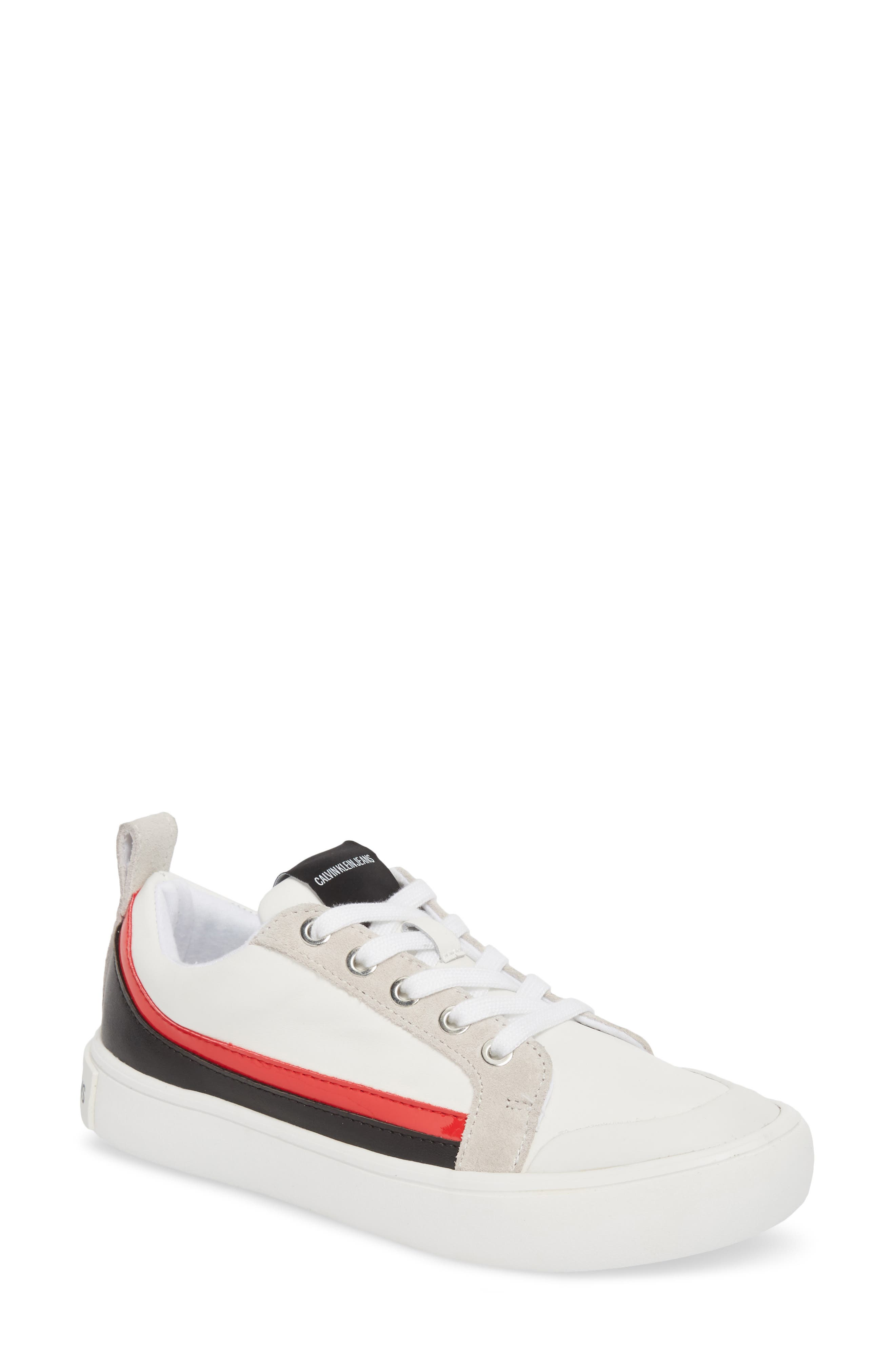 Dodie Sneaker, White/ Black/ Tomato