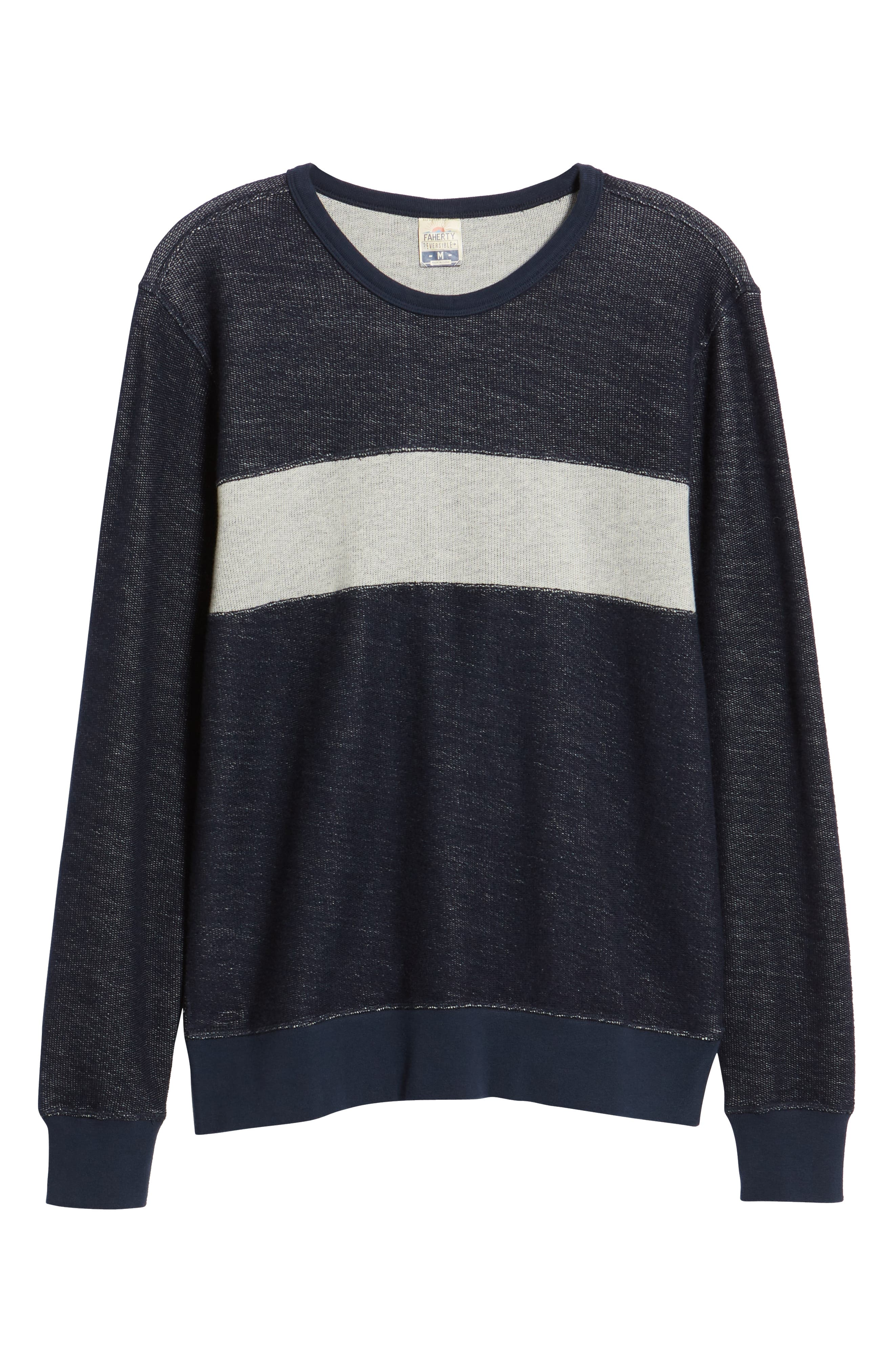 Reversible Colorblock Terry Sweatshirt,                             Alternate thumbnail 7, color,                             Navy / Grey