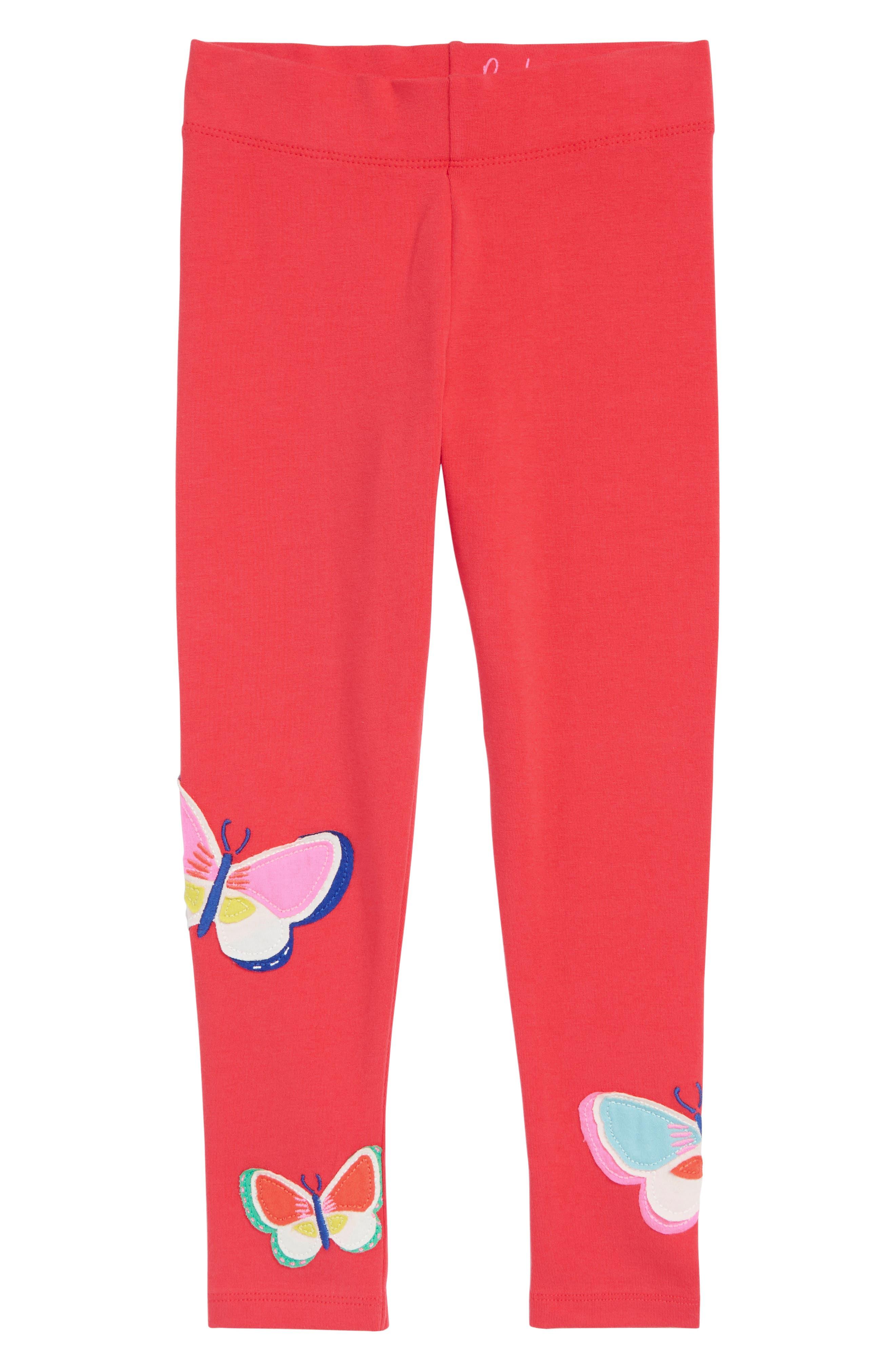 Appliqué Leggings,                             Main thumbnail 1, color,                             Raspberry Pink Butterflies