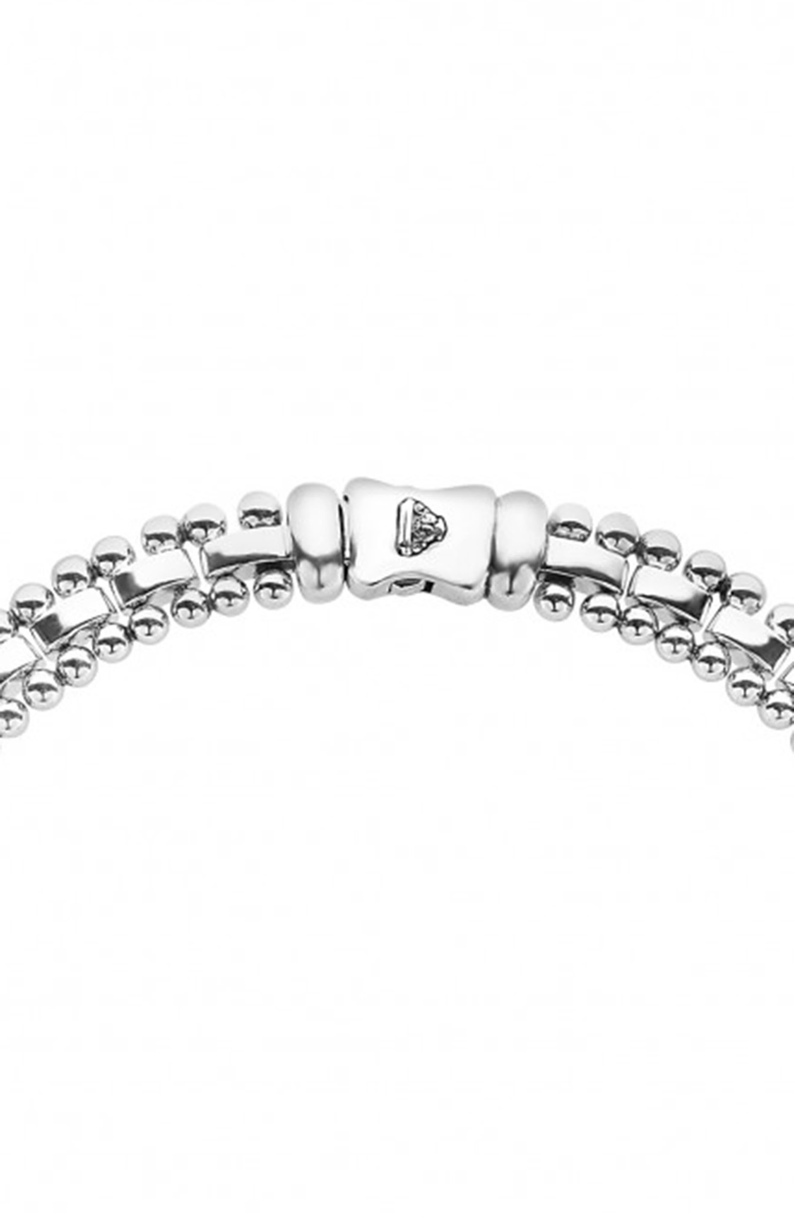 Caviar Spark Diamond Collar Necklace,                             Alternate thumbnail 4, color,                             Silver/ Diamond