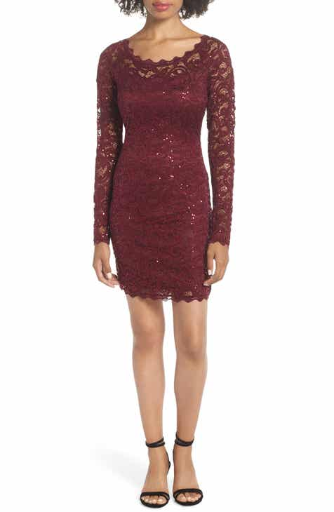 693eb19696 Sequin Hearts Sequin Lace Sheath Dress