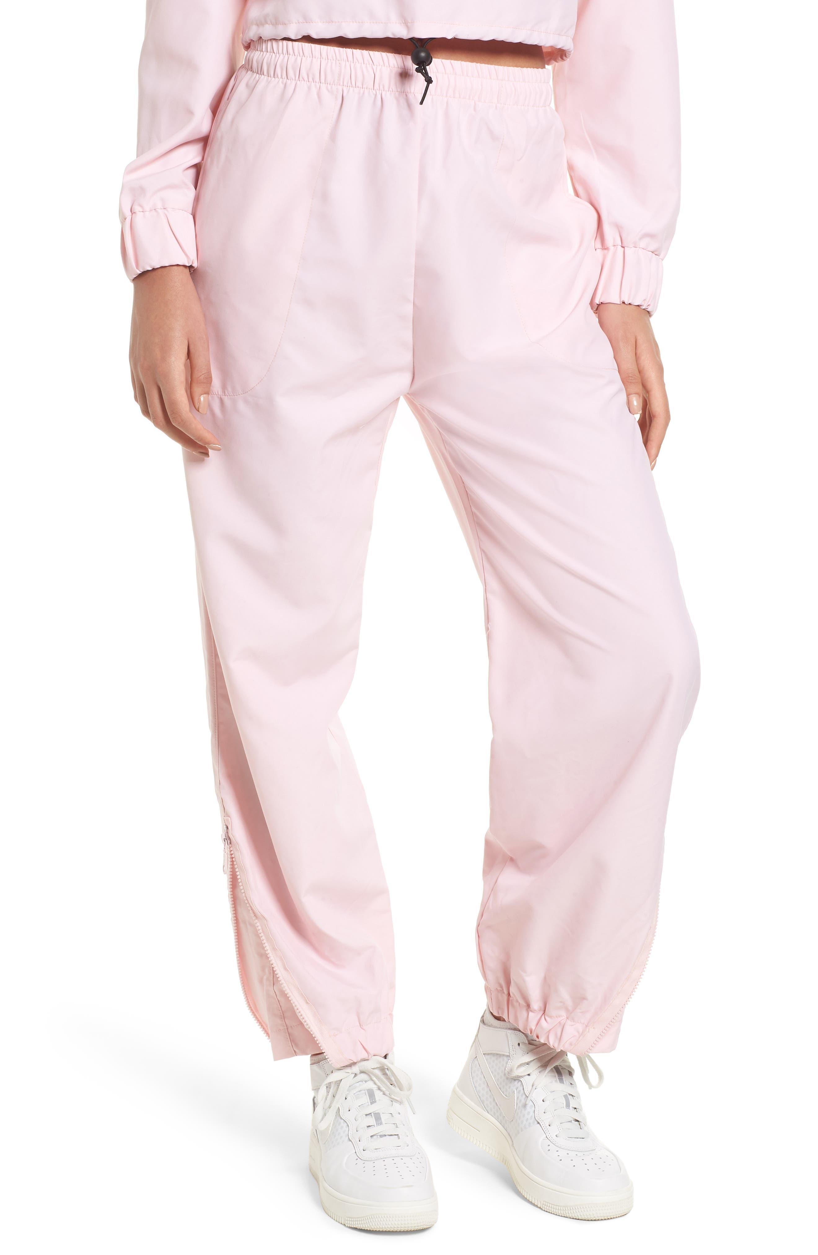 Windbreaker Pants,                         Main,                         color, Pink