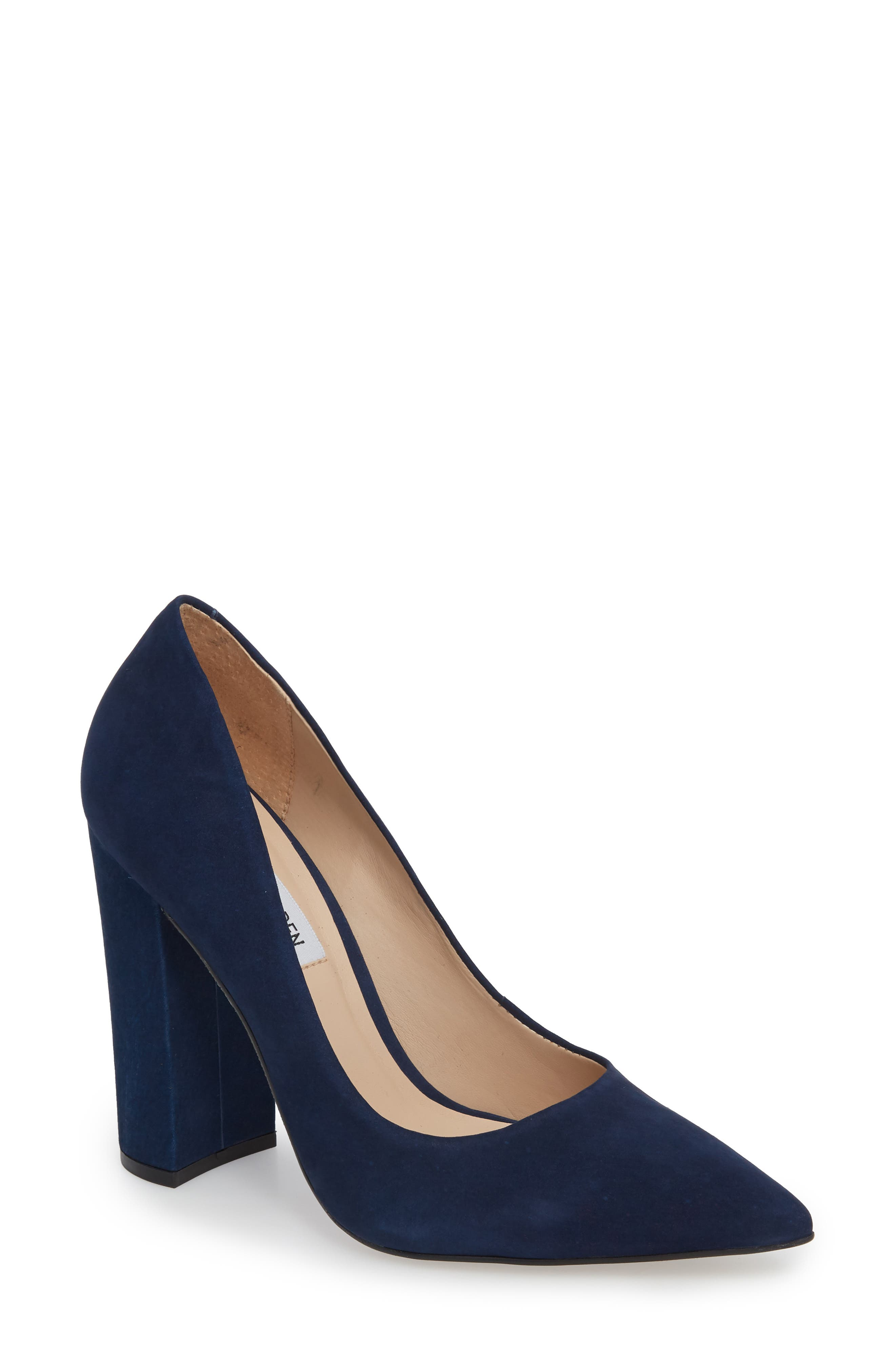 Prance Pump,                             Main thumbnail 1, color,                             Navy Nubuck