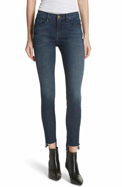 902fd86bc5 FRAME Le Skinny Raw Step Hem Jeans (Galvin)