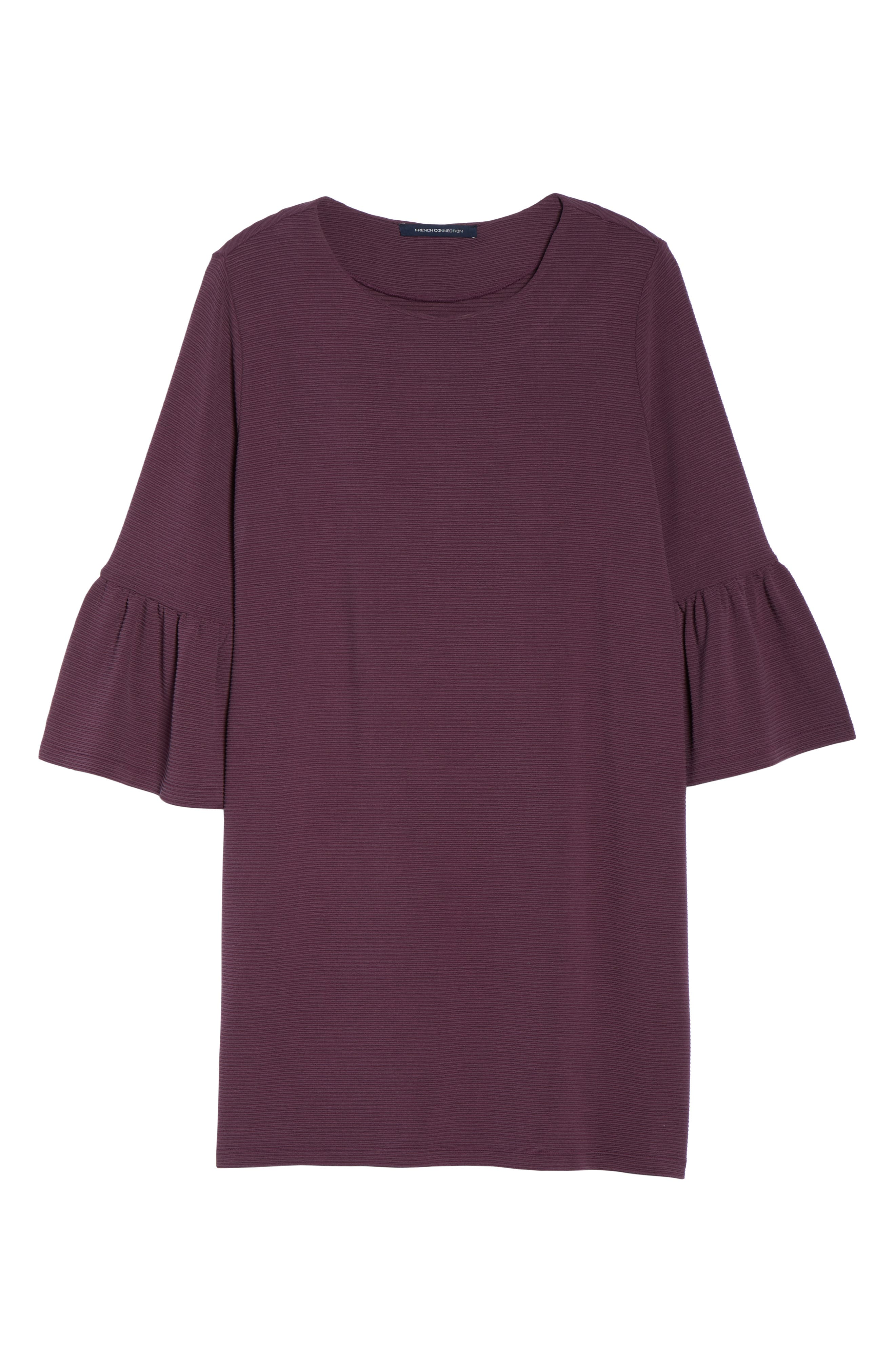 Paros Sudan Bell Sleeve Shift Dress,                             Alternate thumbnail 7, color,                             Plum Noir