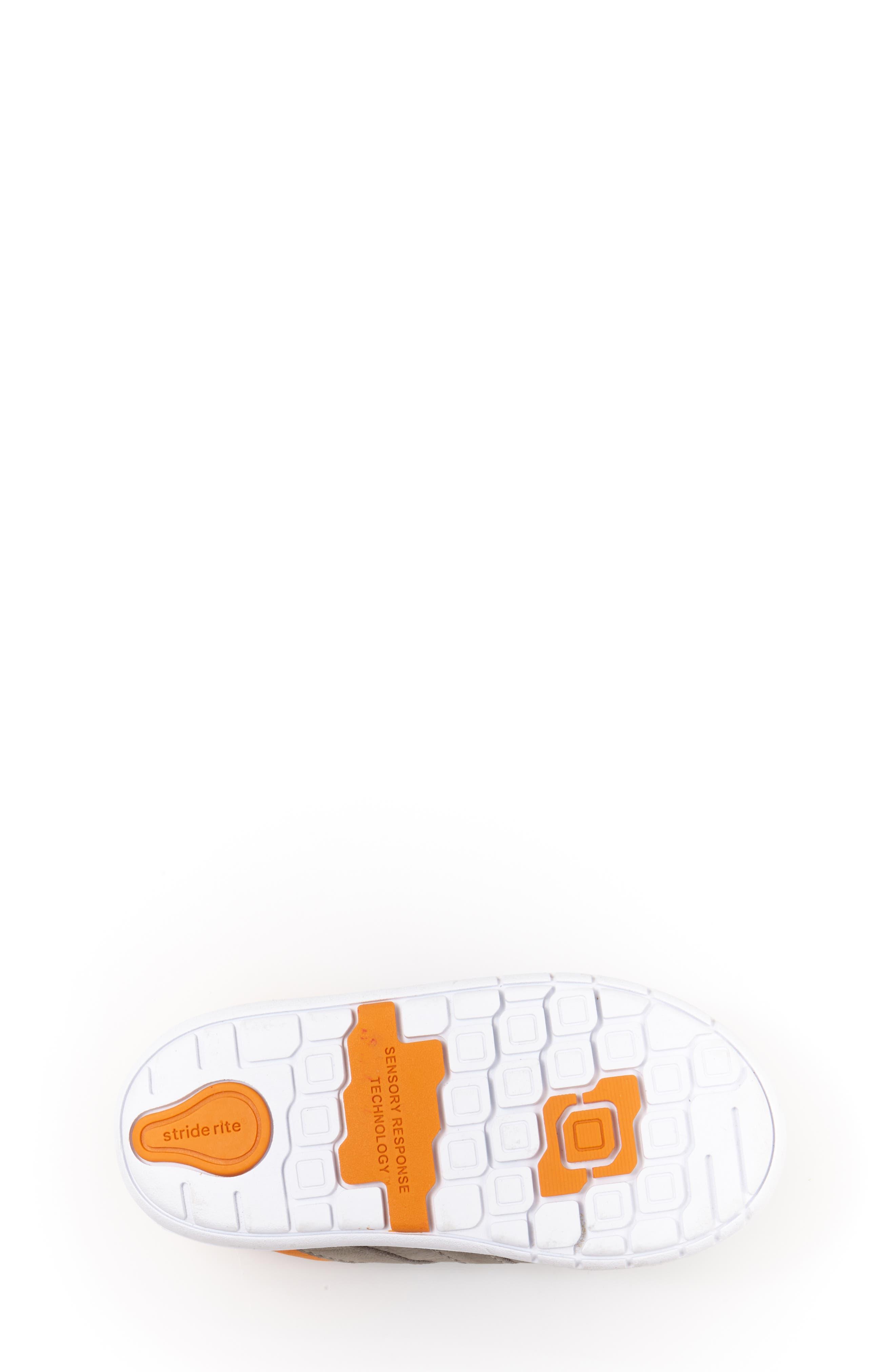 SRT Noe Sneaker,                             Alternate thumbnail 3, color,                             Grey/ Orange
