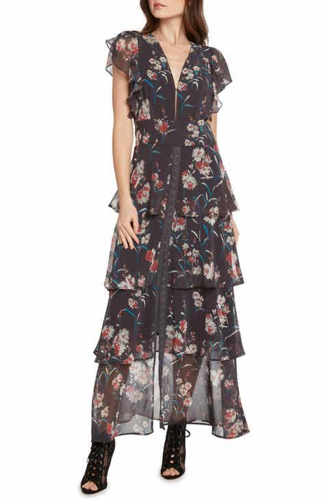 Willow Clay Fl Tiered Maxi Dress