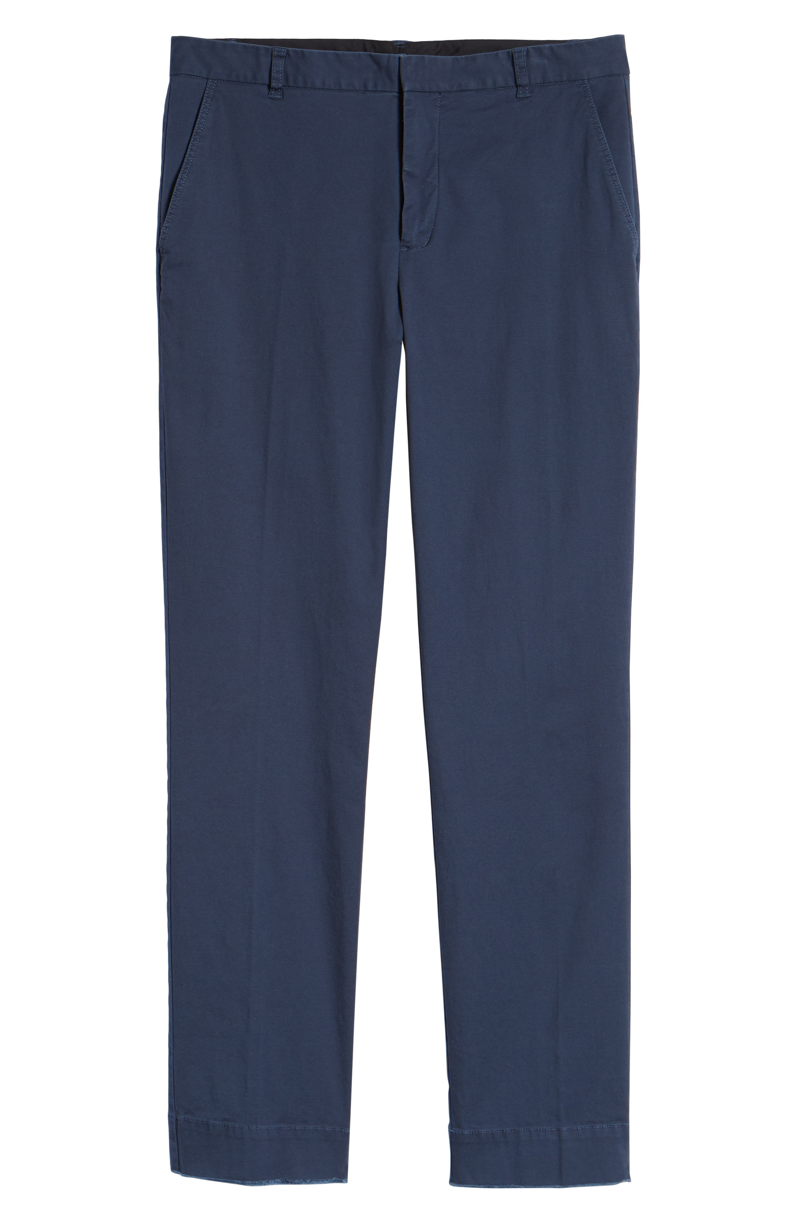Slim Fit Stretch Twill Pants,                             Alternate thumbnail 6, color,                             Navy