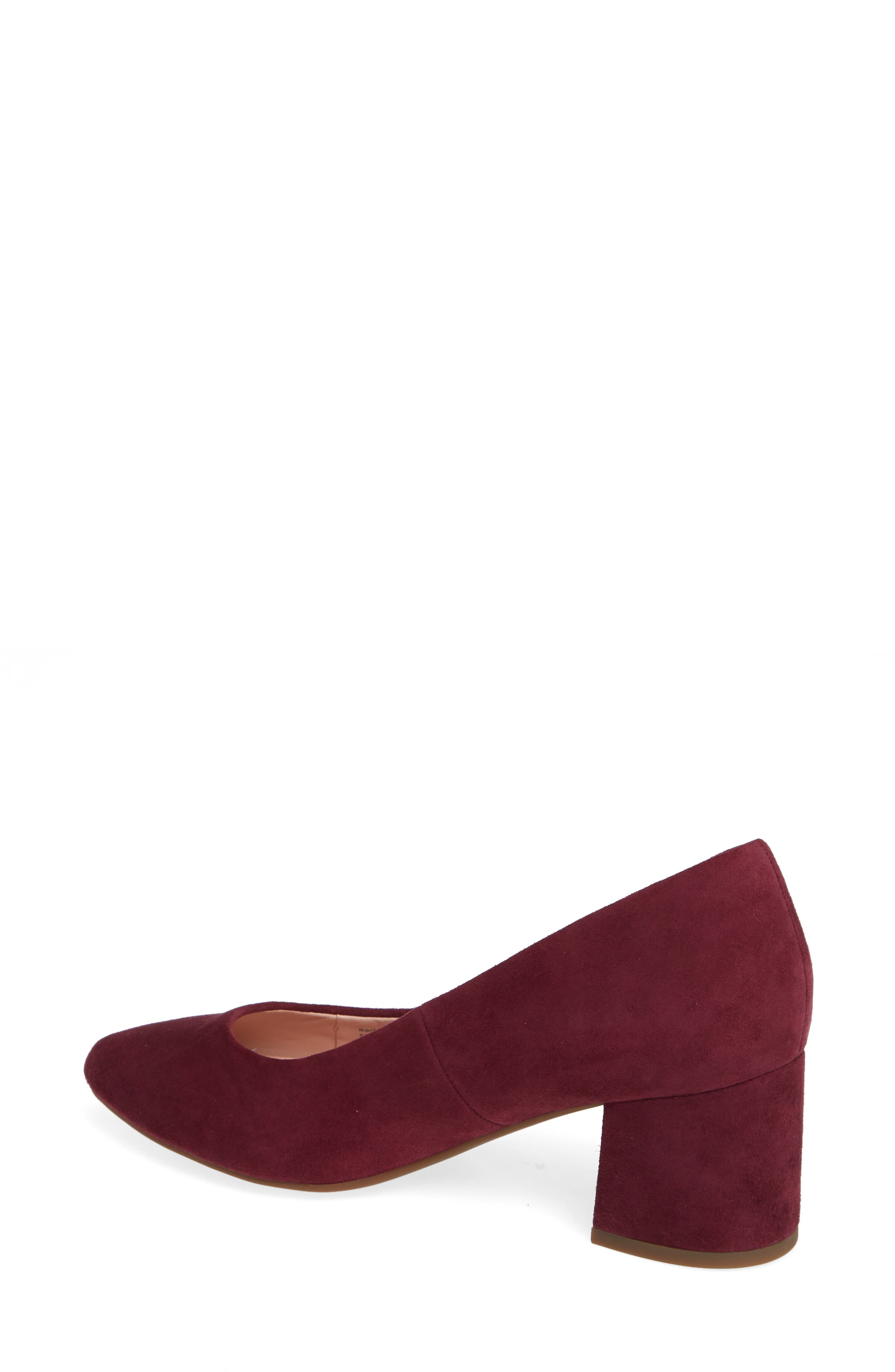 Rochelle Block Heel Pump,                             Alternate thumbnail 2, color,                             Fig Suede