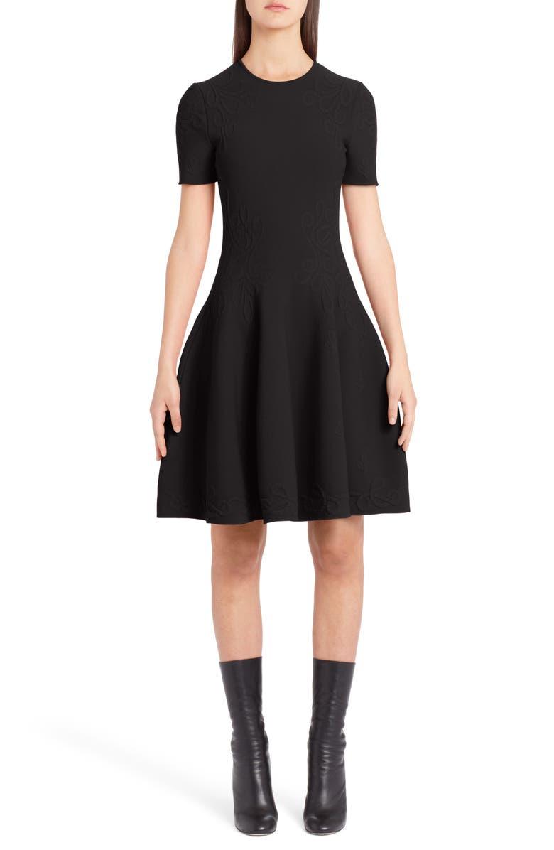 Knit Fit  Flare Dress