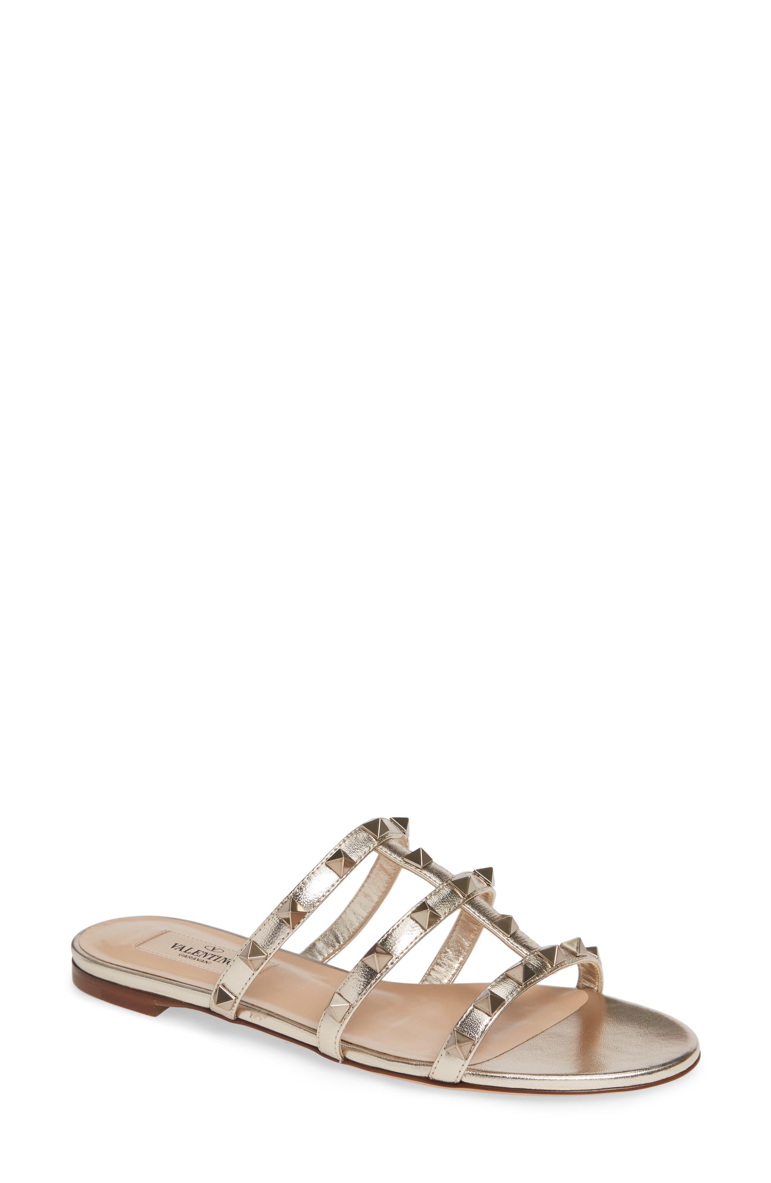 Rockstud Slide Sandal,                         Main,                         color, Skin