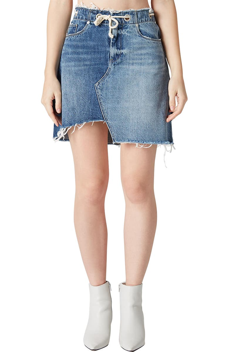 Pieced Denim Skirt
