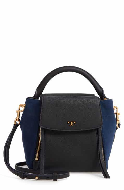 0c3cb21065d8 Tory Burch Half-Moon Mixed Media Crossbody Bag