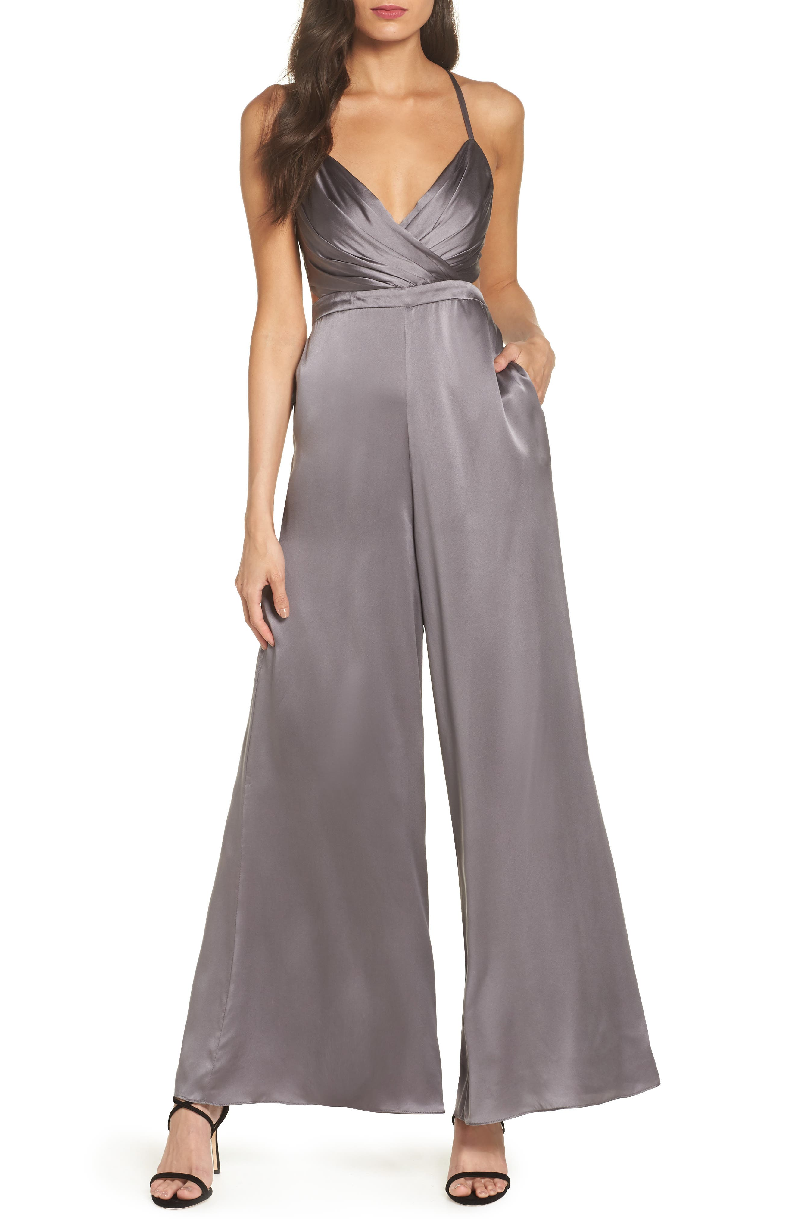 FAME AND PARTNERS THE ARMELLE WIDE LEG JUMPSUIT