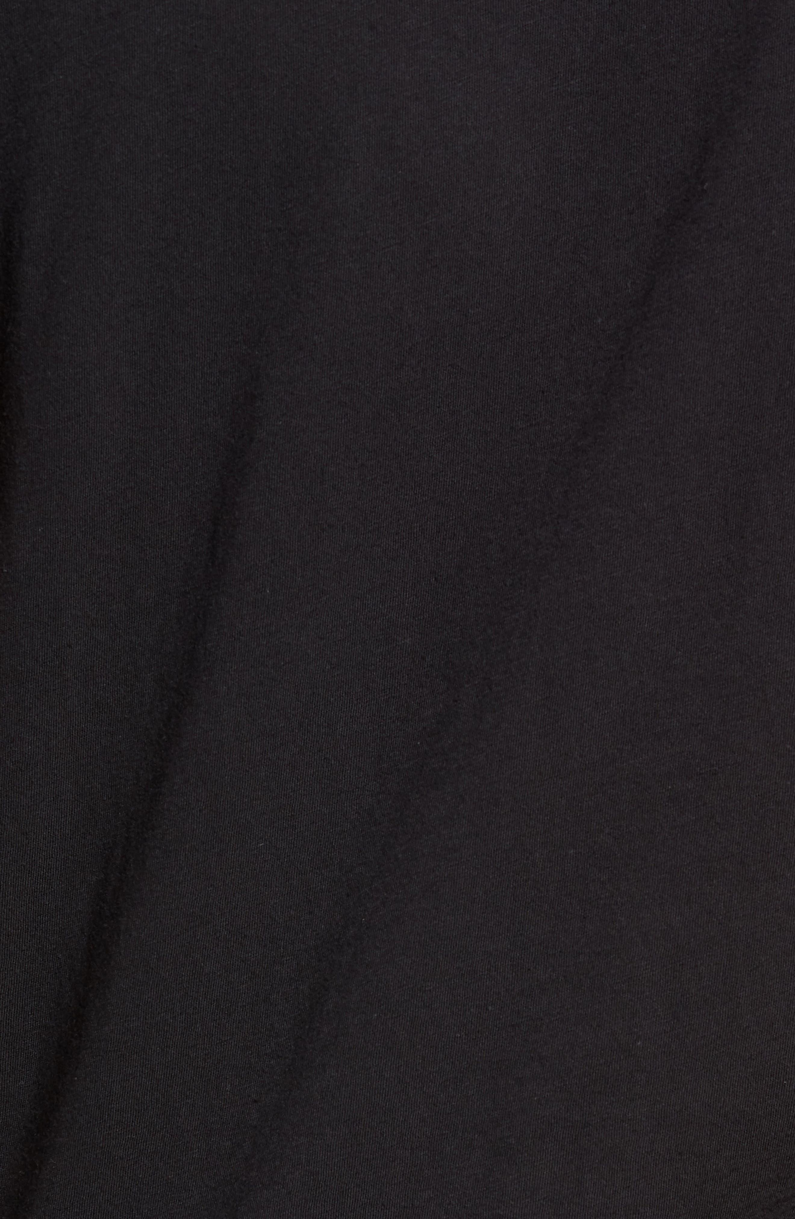 Slim Fit Crewneck T-Shirt,                             Alternate thumbnail 6, color,                             Jet Black