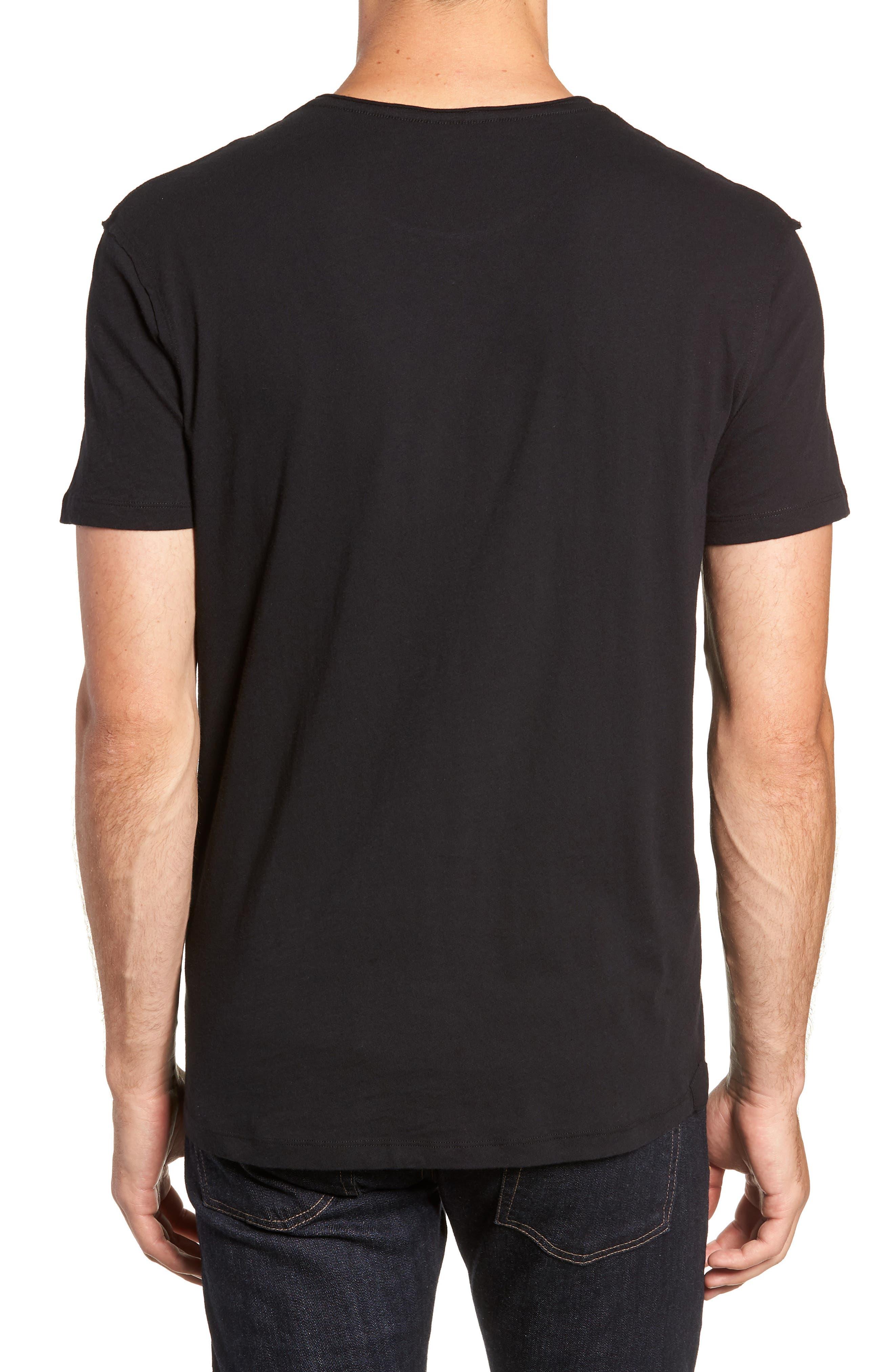 Slim Fit Crewneck T-Shirt,                             Alternate thumbnail 2, color,                             Jet Black